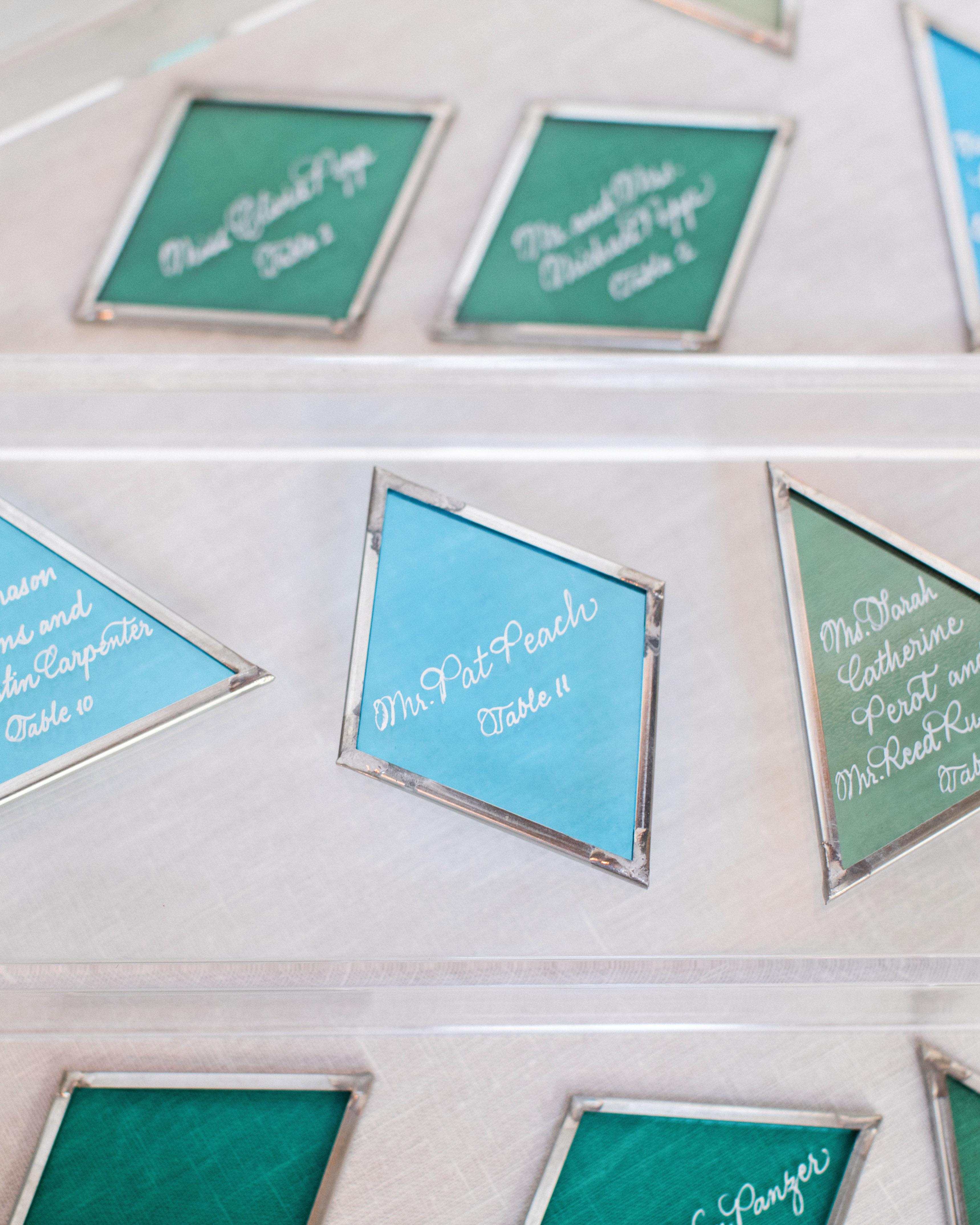 Stained-Glass Escort Cards
