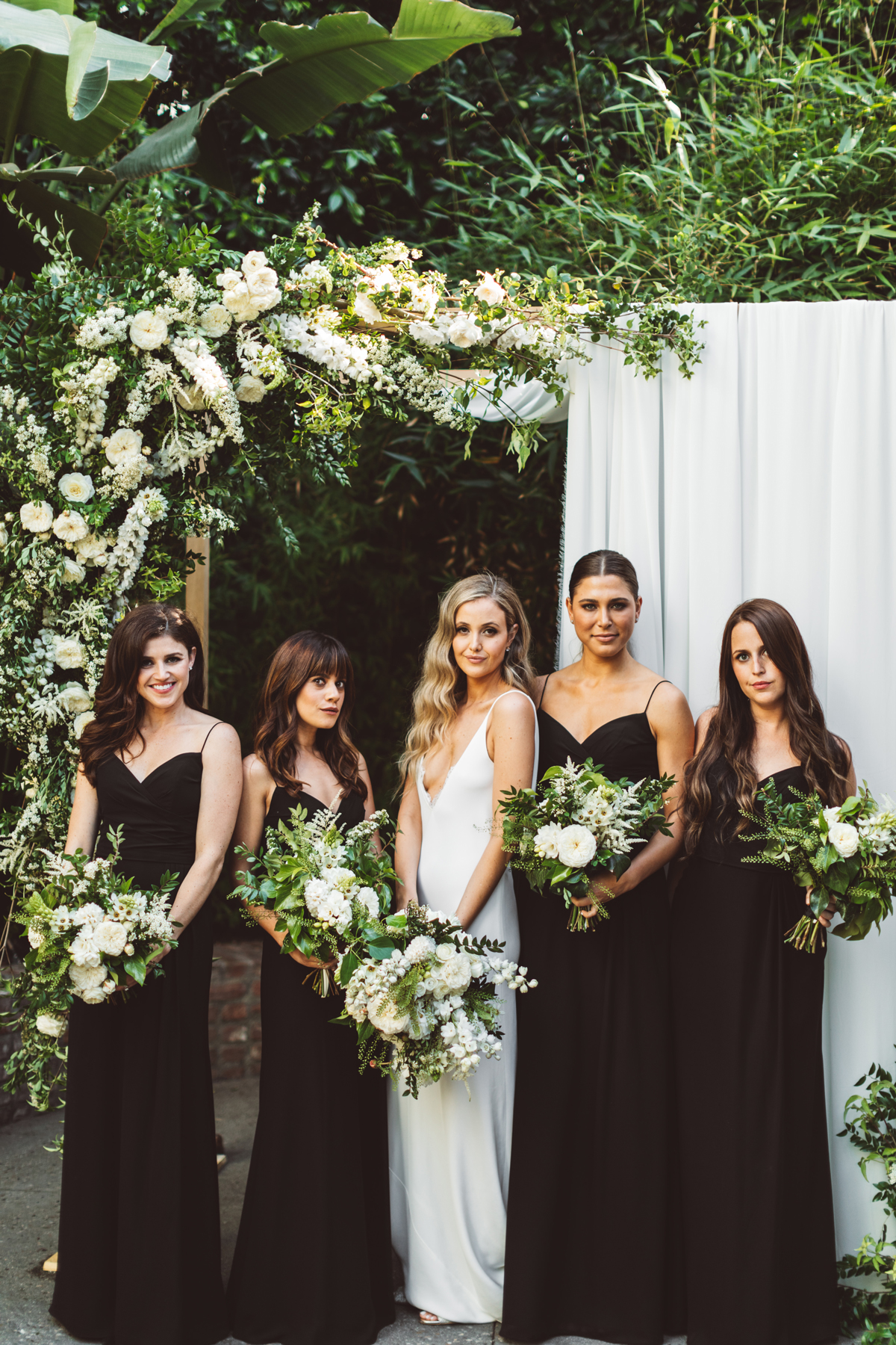 kaily matt wedding los angeles bride and bridesmaids