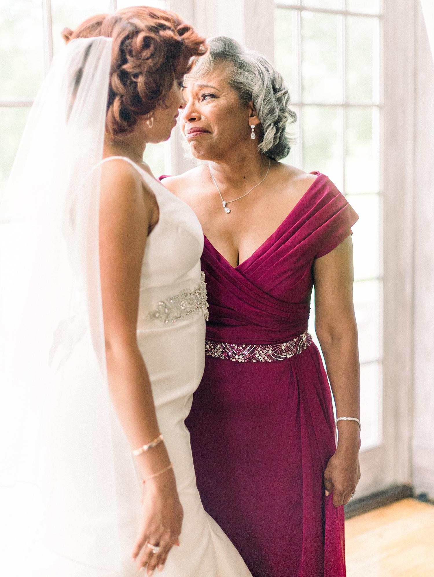 dawn rich wedding bride and mom