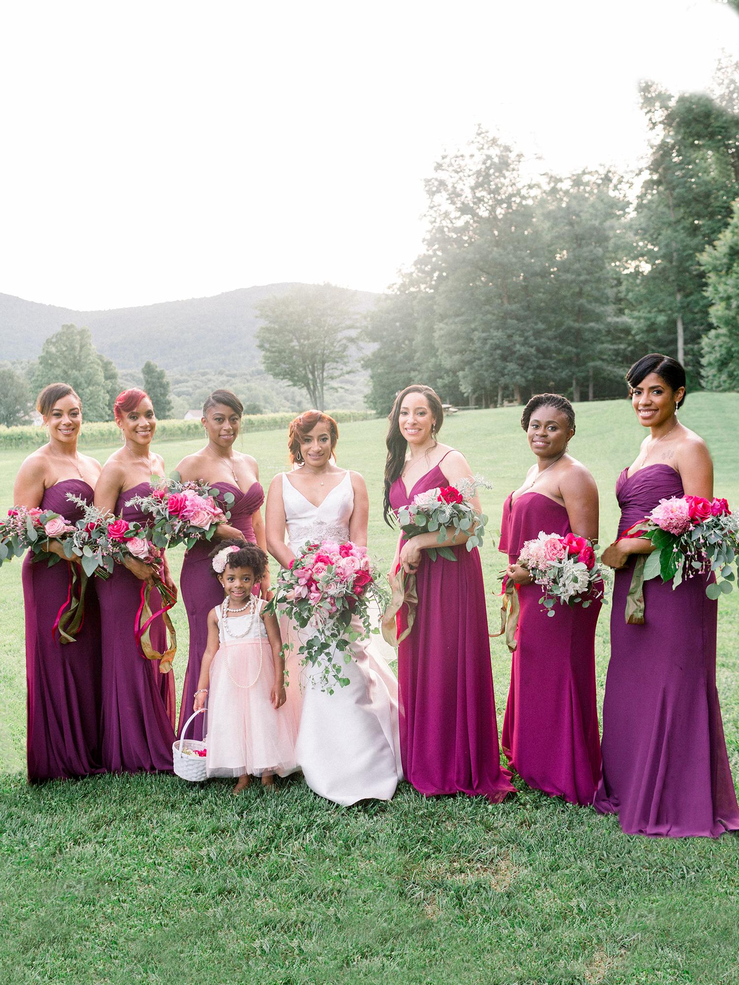dawn rich wedding bridesmaids