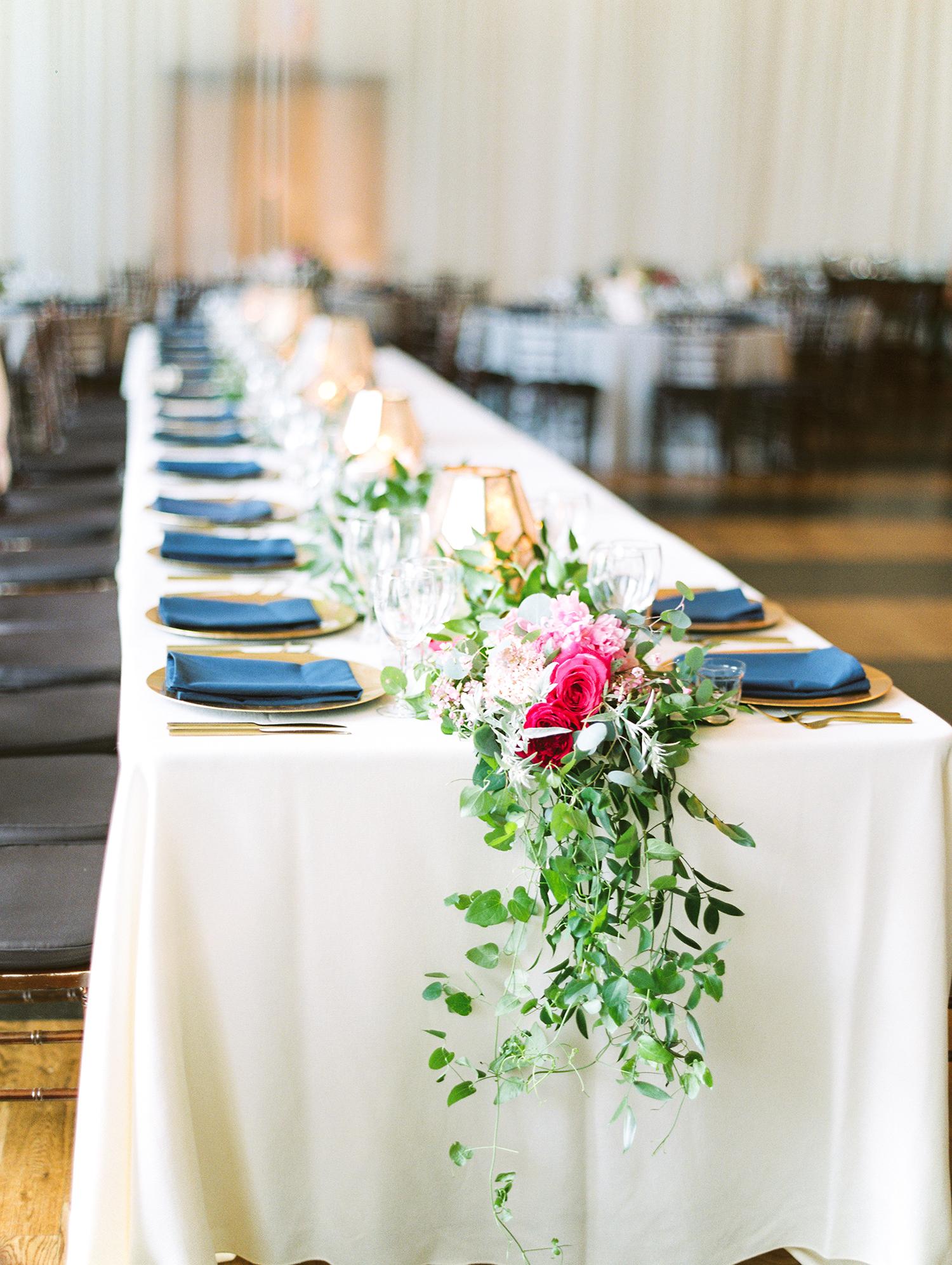 dawn rich wedding table setting
