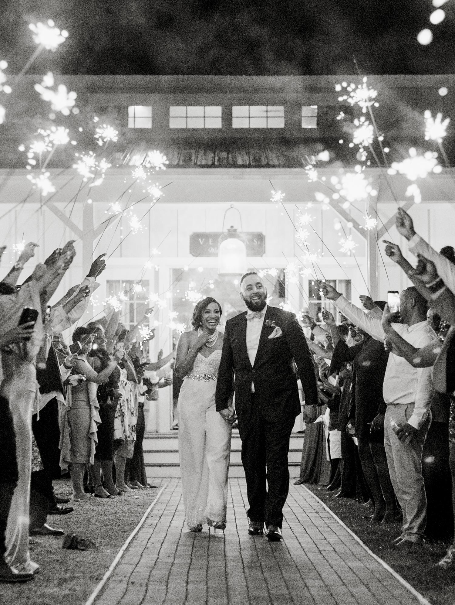 dawn rich wedding sparkler send off