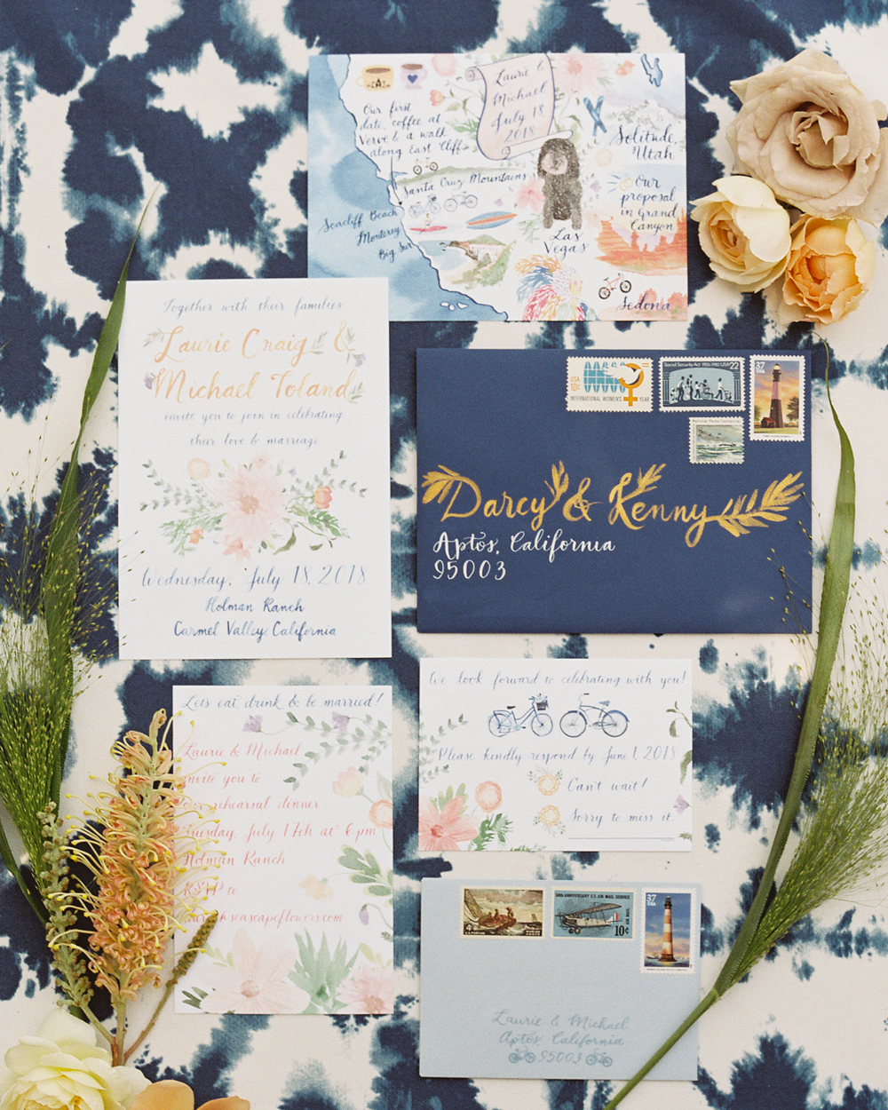 laurie michael wedding stationary suite
