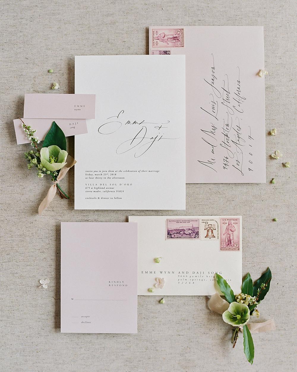 emme daji wedding stationary suite