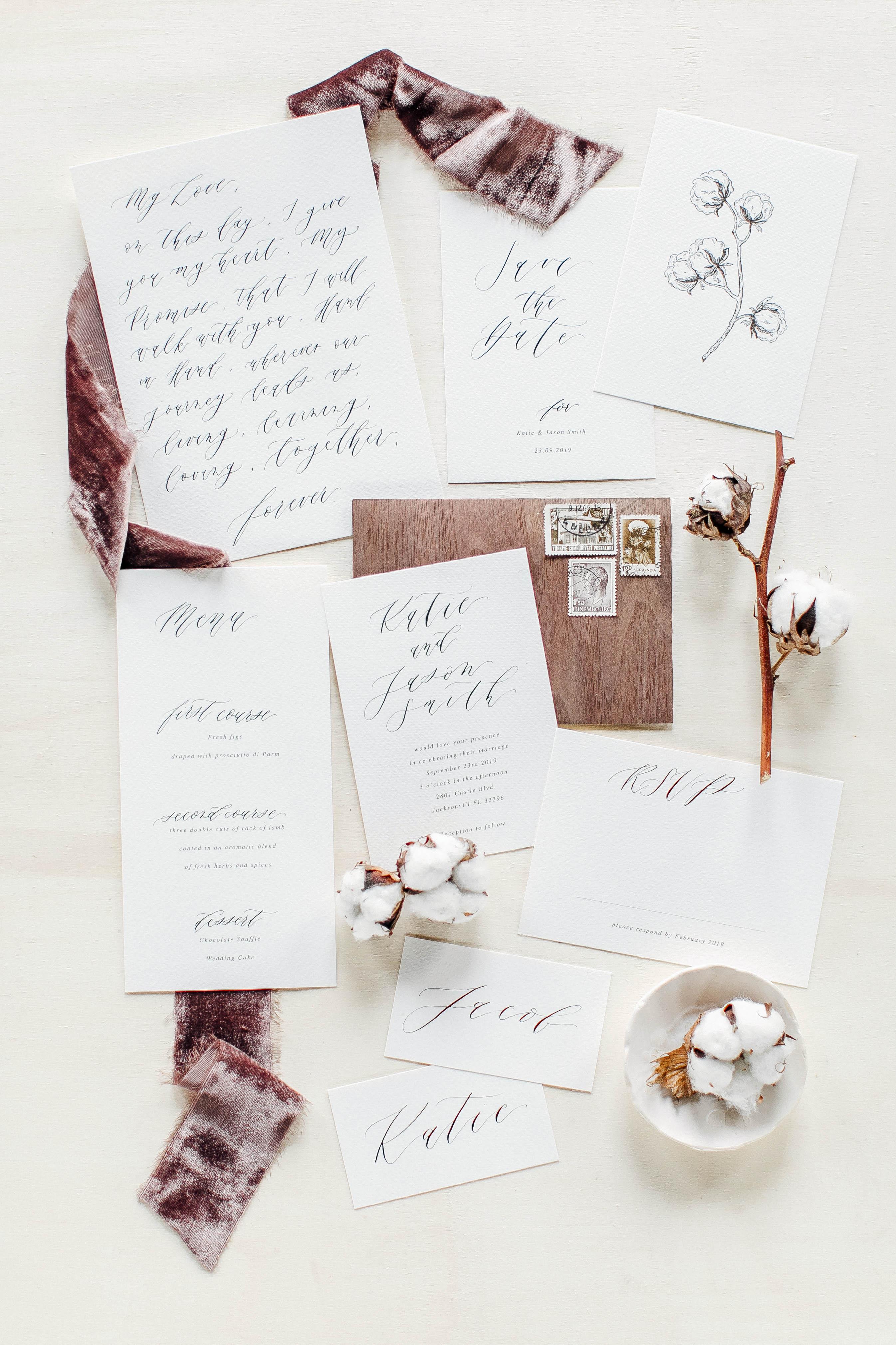 Wood-Inspired Envelopes