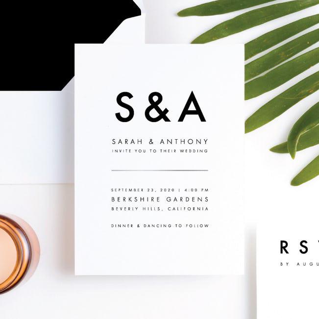 wedding stationery trends minimalism design invitation