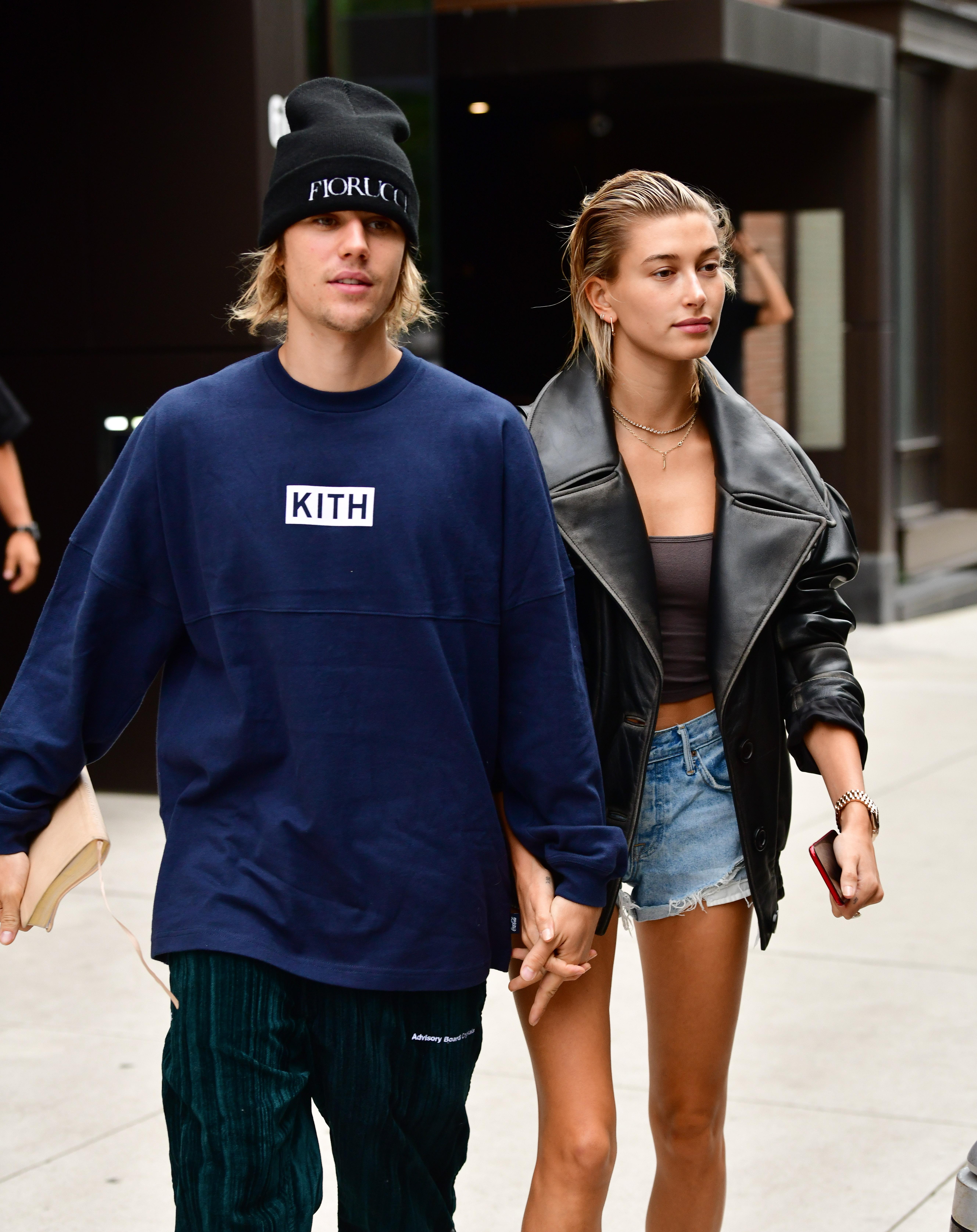 justin bieber and hailey baldwin walking together