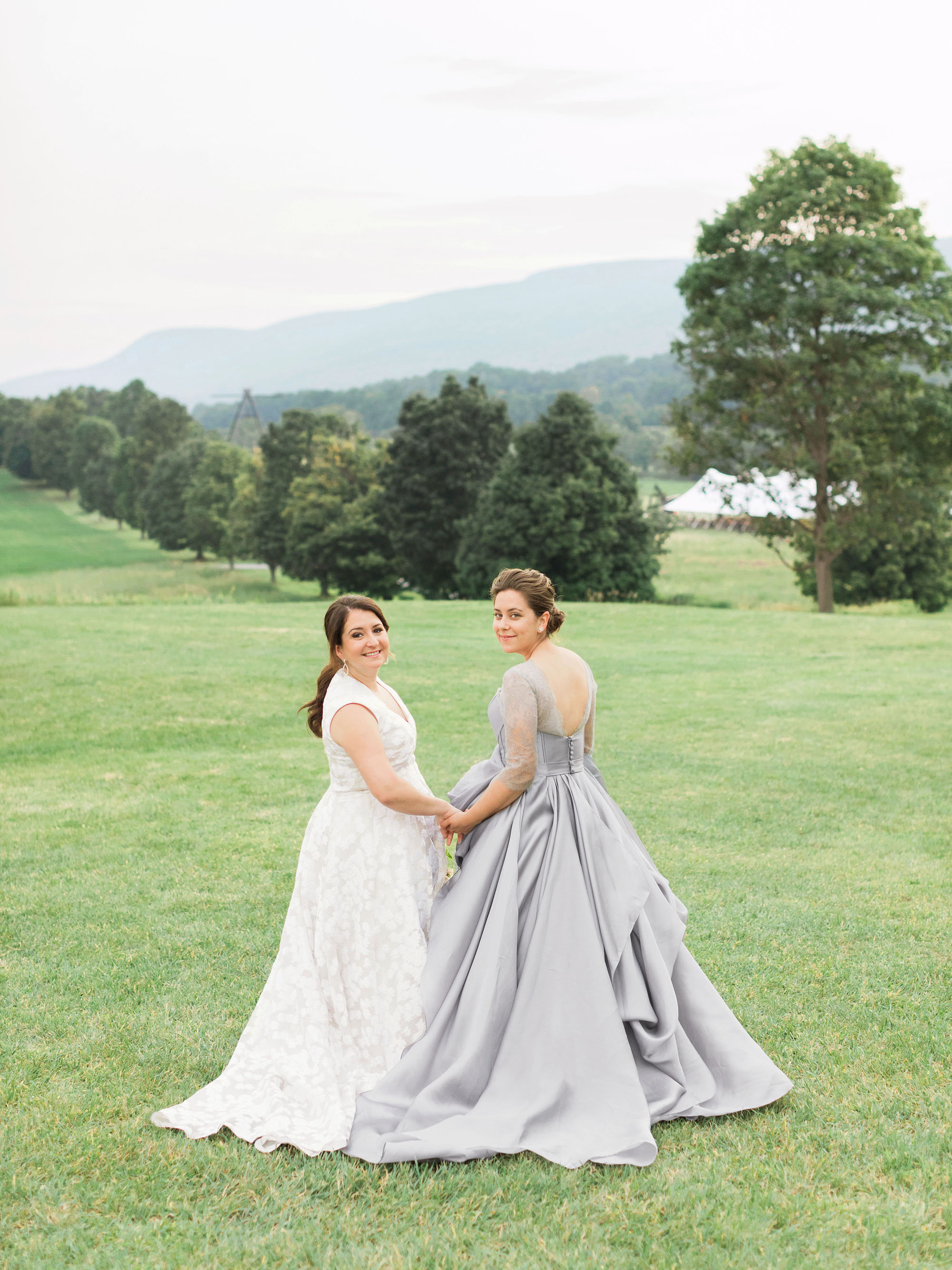 White and Gray Wedding Dresses