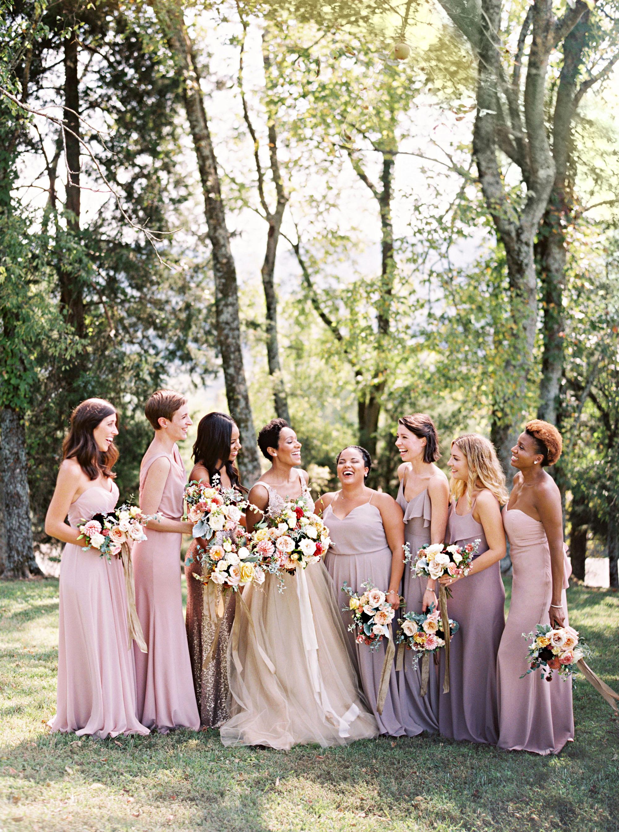 amanda william wedding tennessee purple bridesmaids