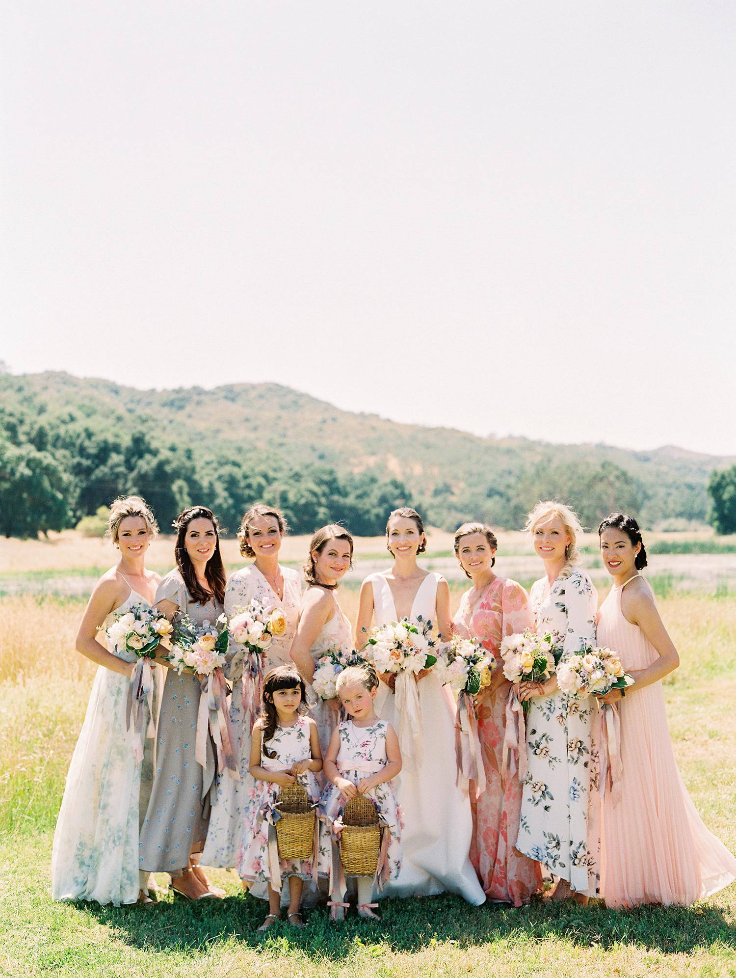 caitlin amit wedding bride with bridesmaids