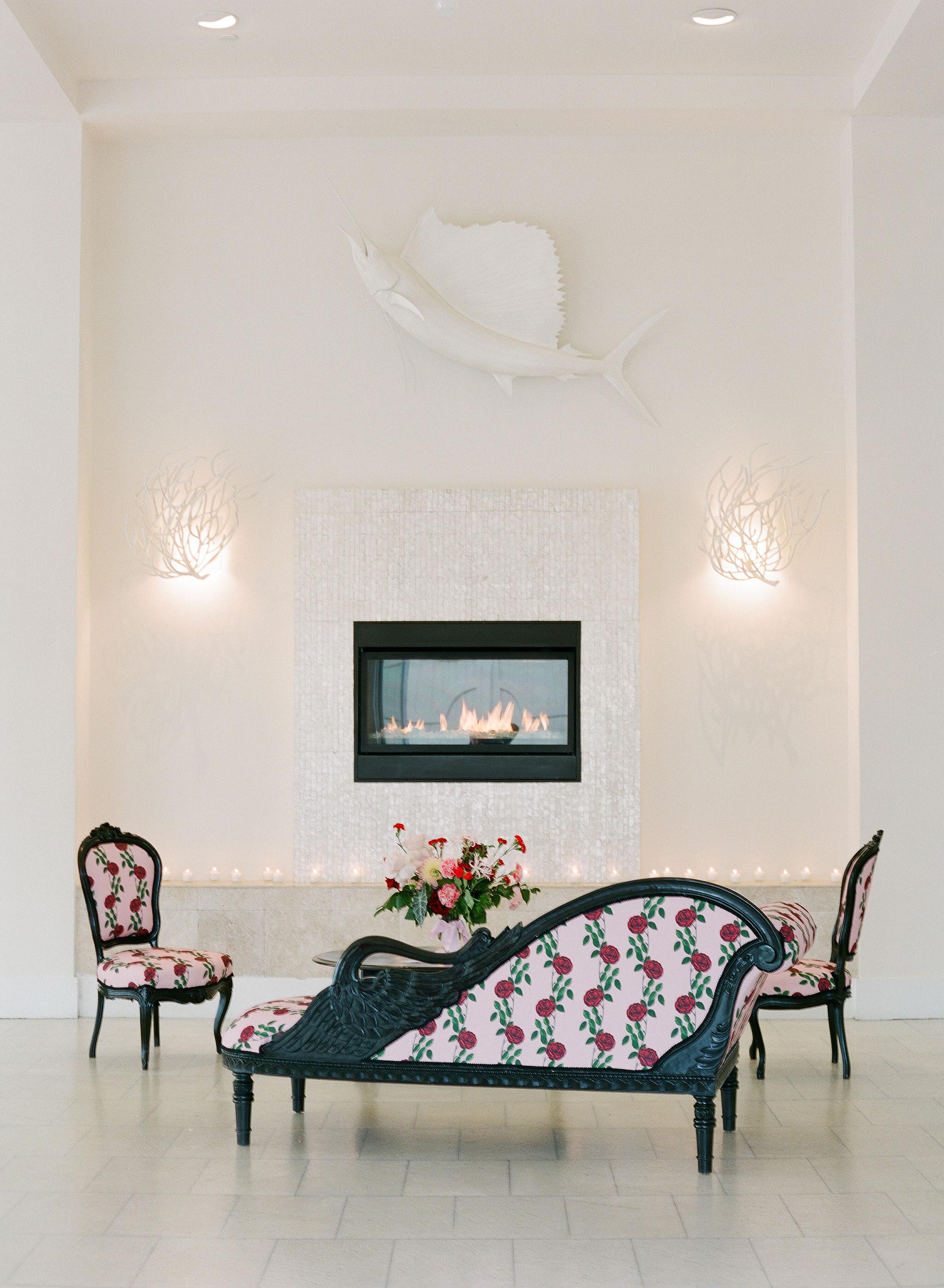 colleen stephen newport wedding floral patterned lounge furniture