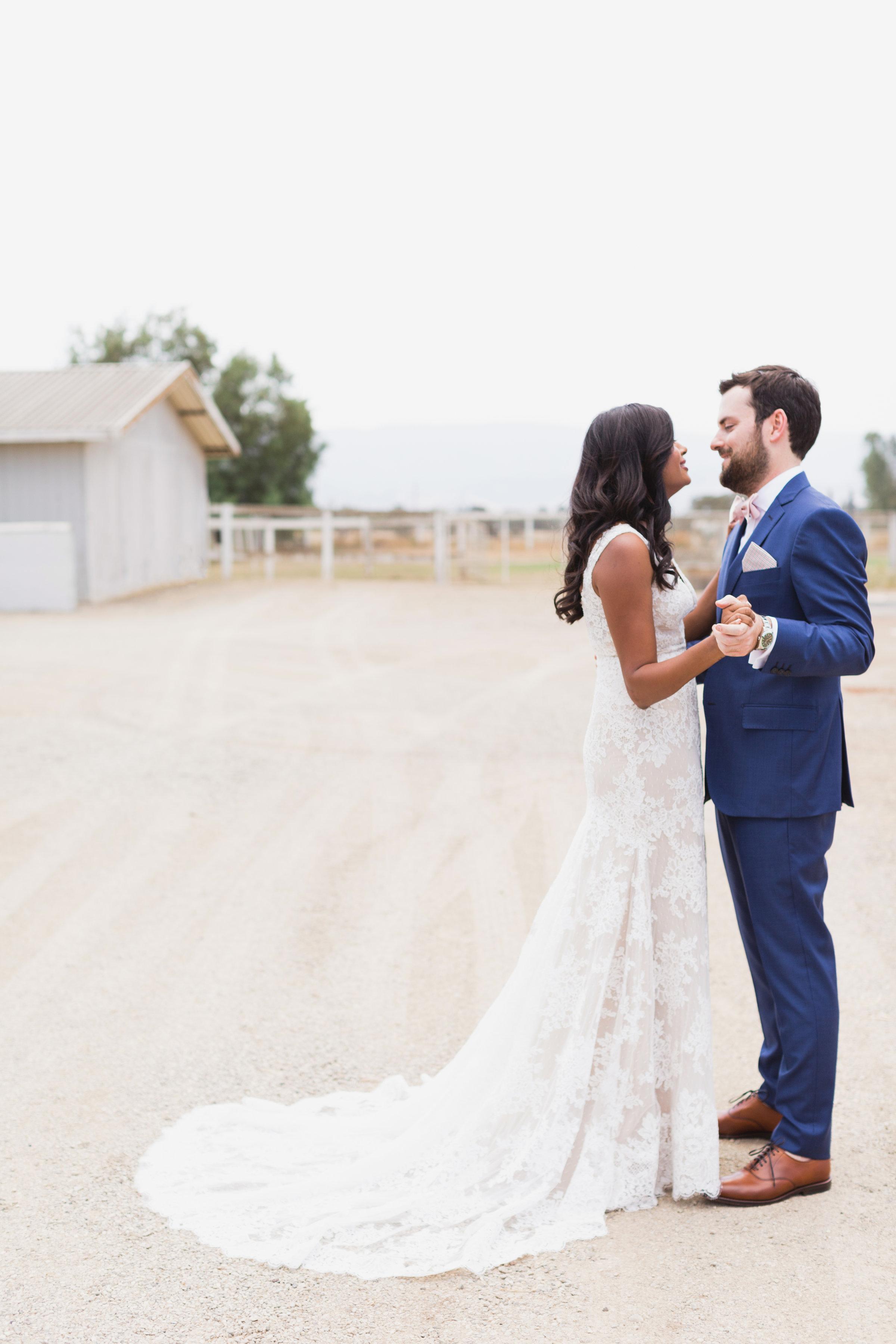 california indian jewish wedding couple portrait