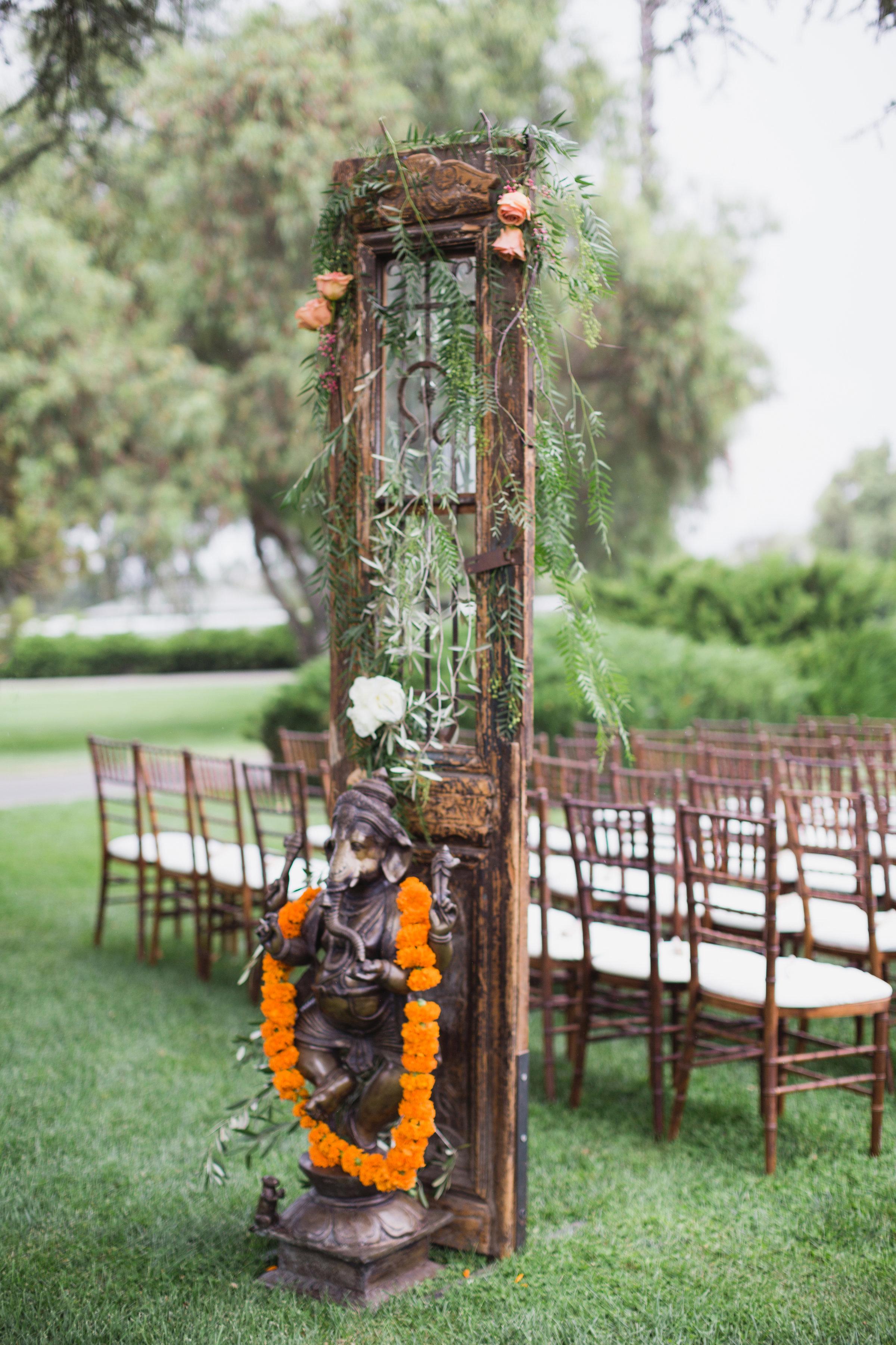 california indian jewish wedding outdoor ceremony decor