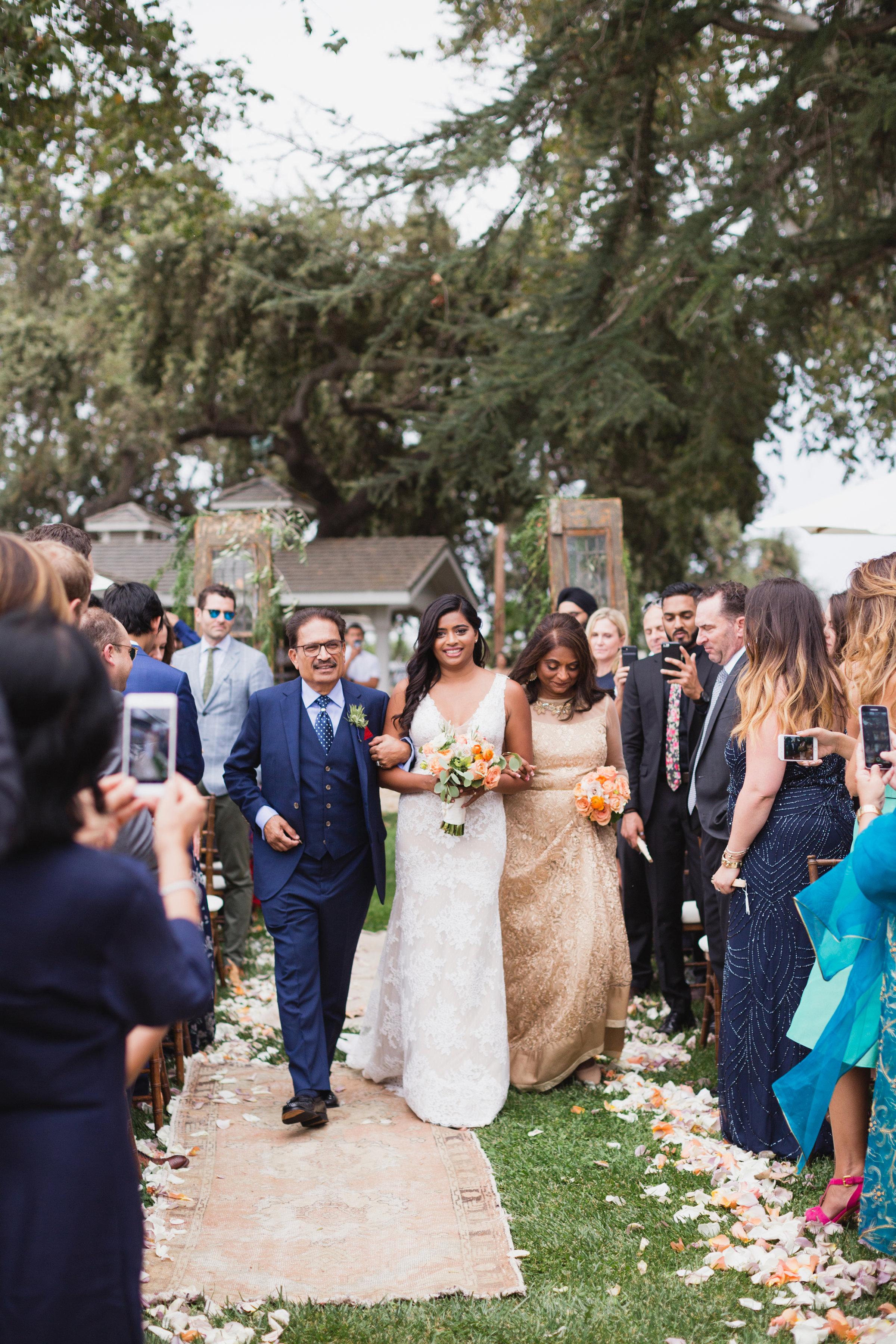 california indian jewish wedding processional