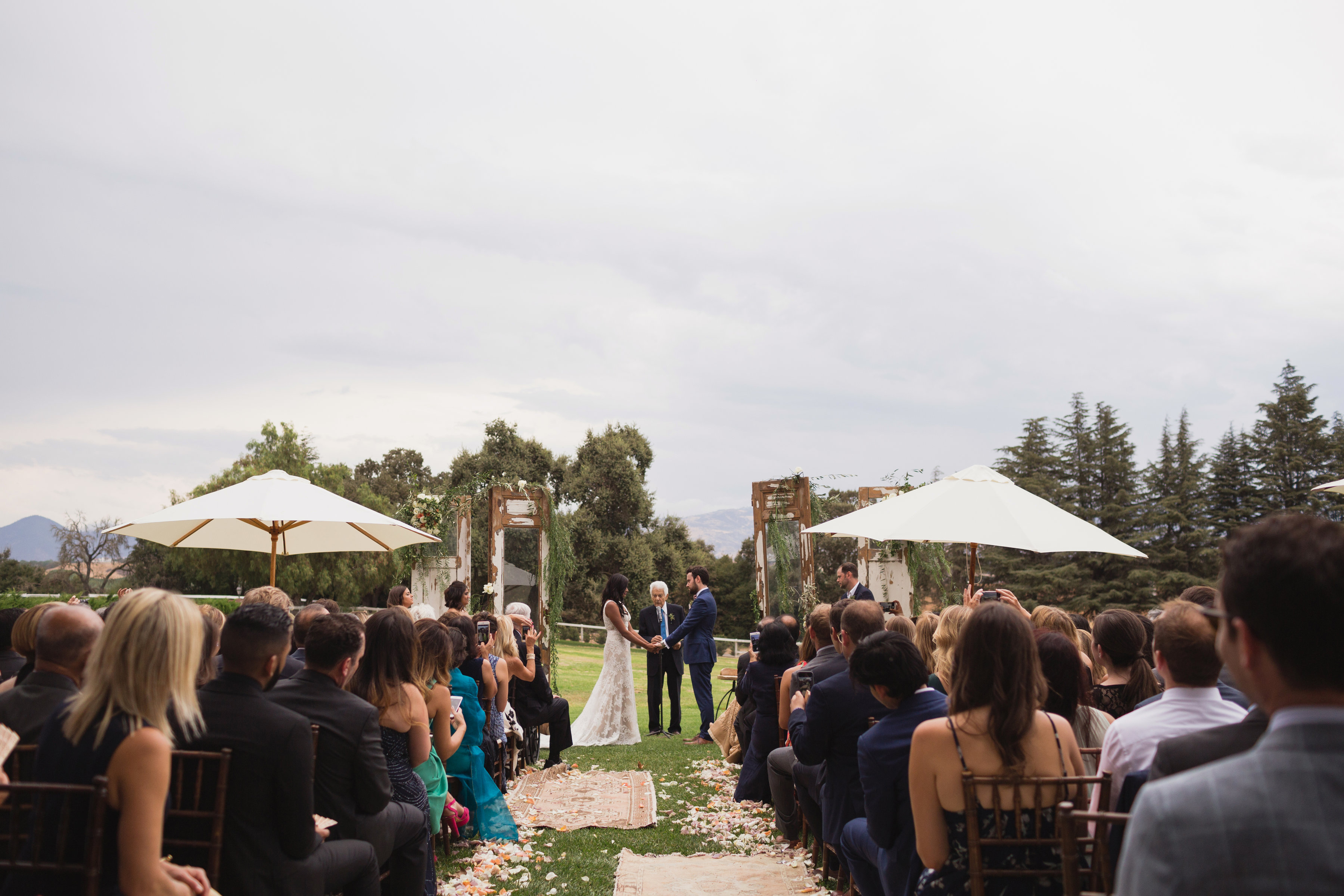 california indian jewish wedding ceremony
