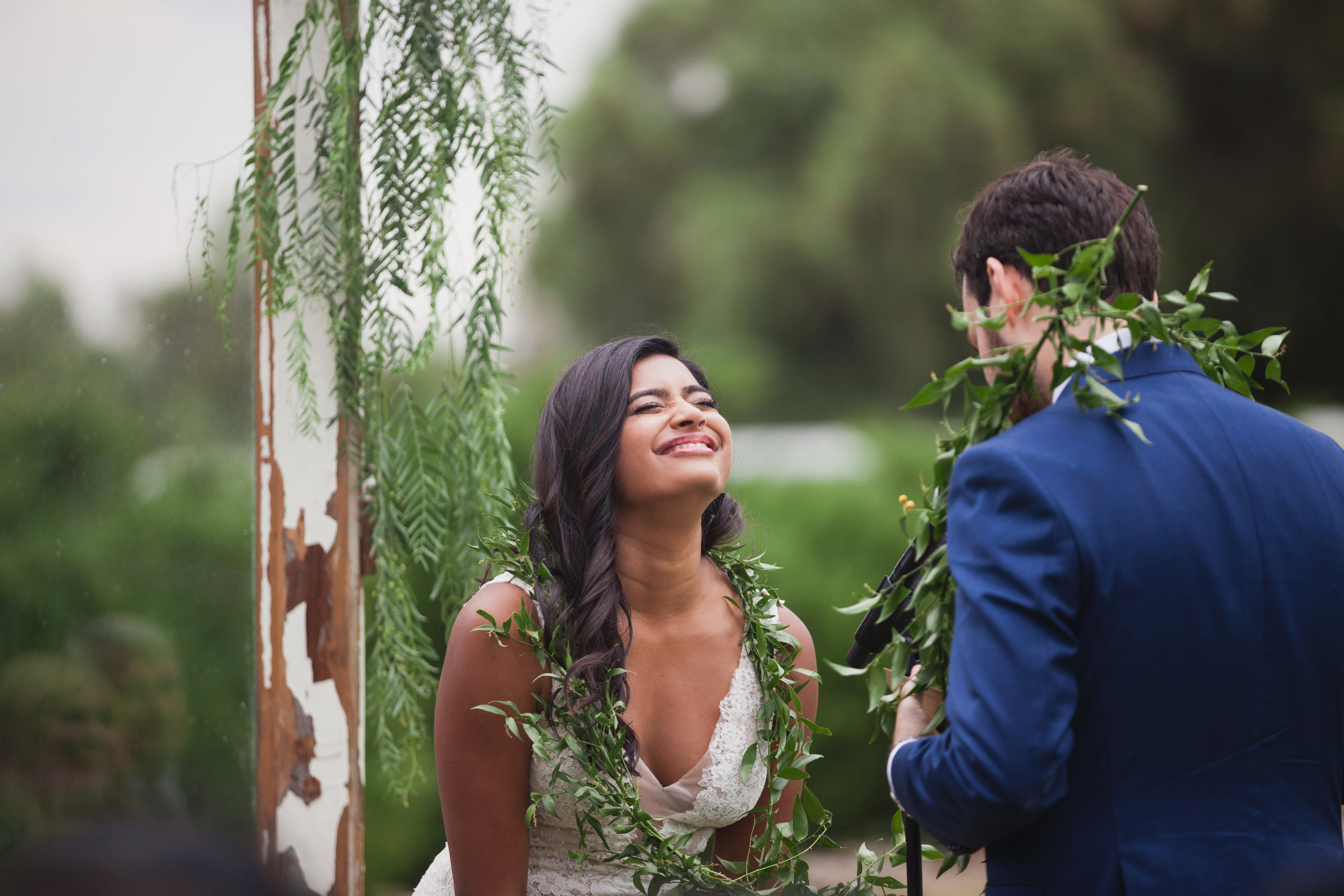 california indian jewish wedding vow exchange