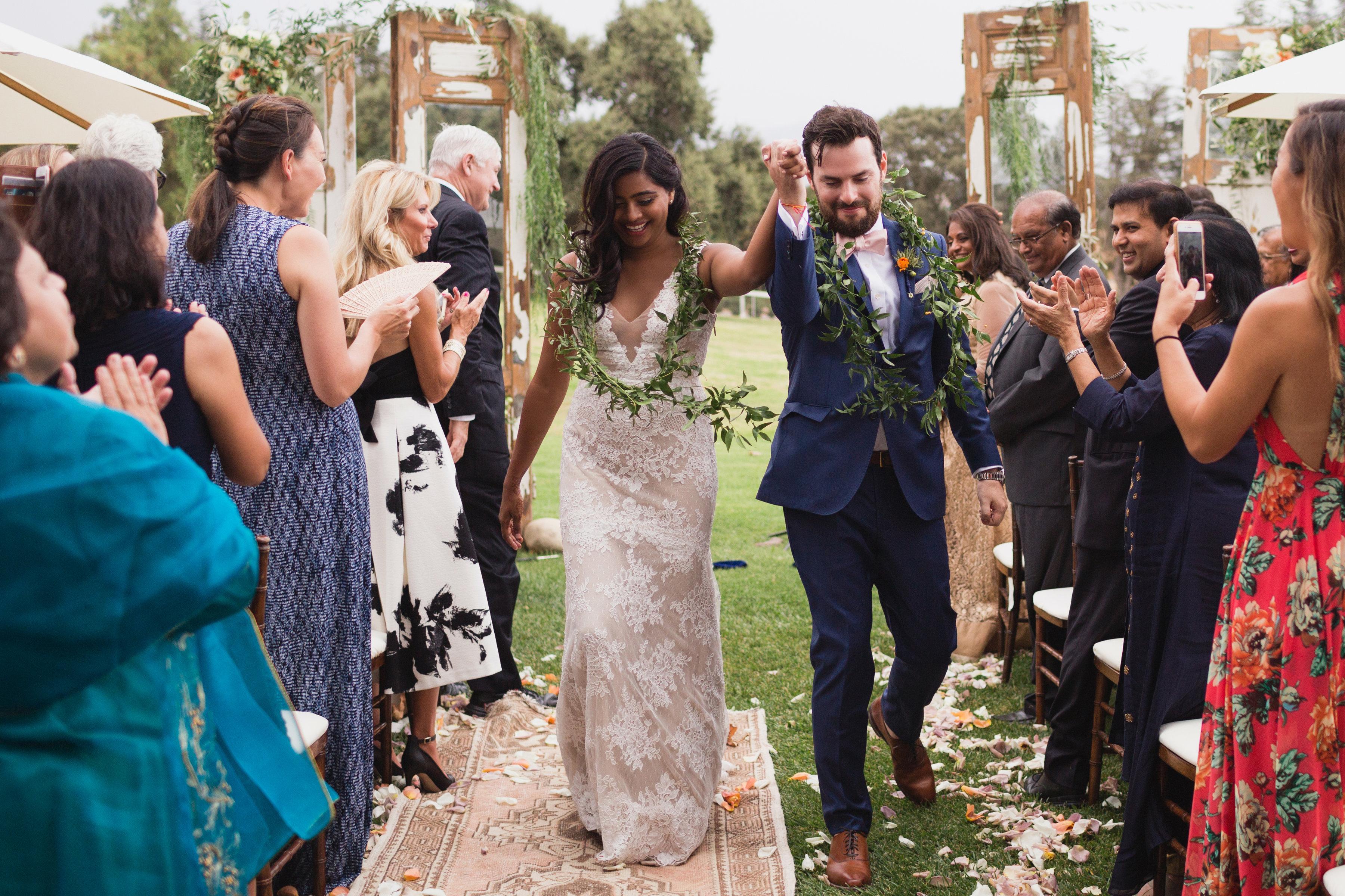 california indian jewish wedding recessional