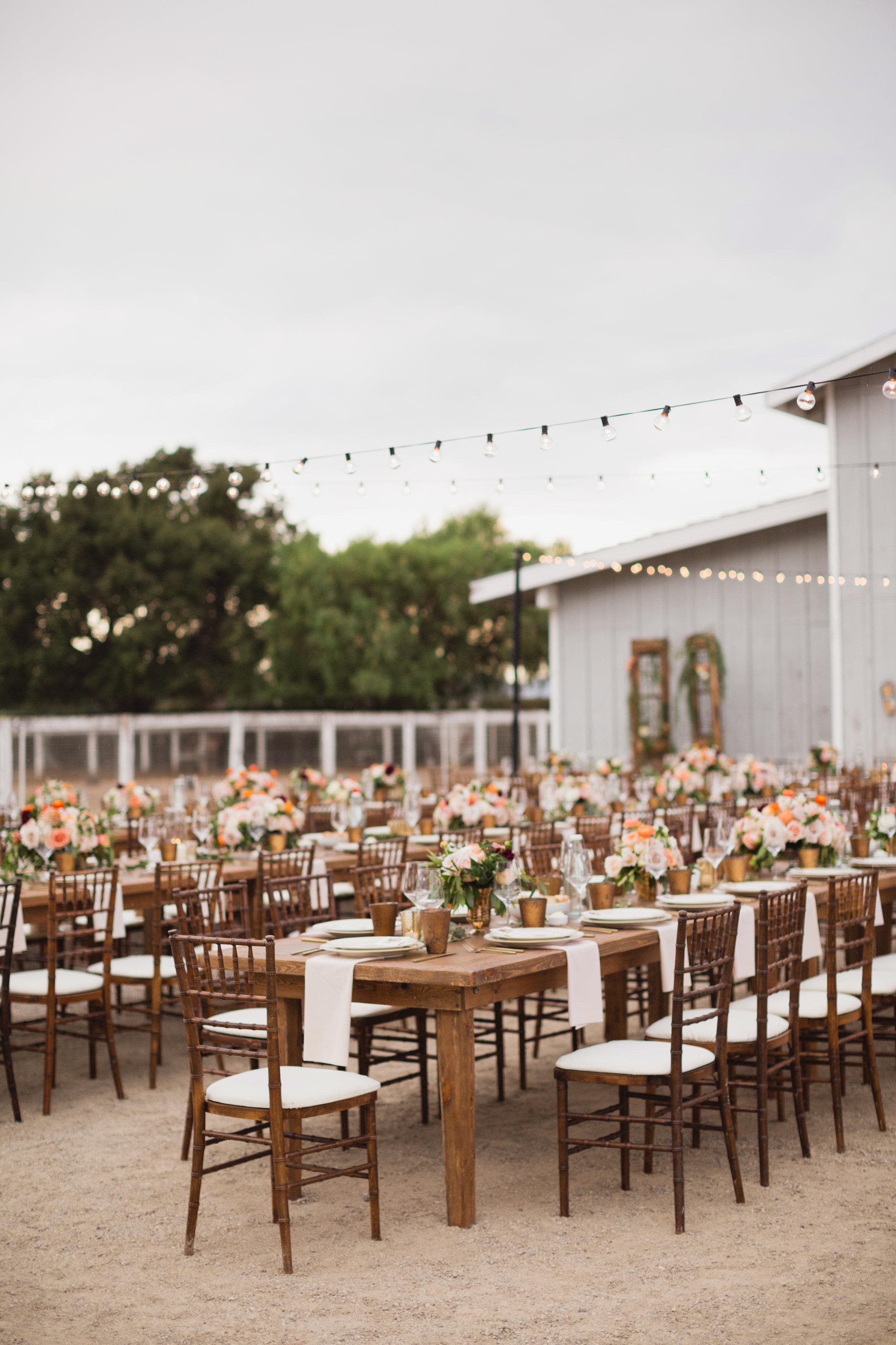 california indian jewish wedding outdoor reception
