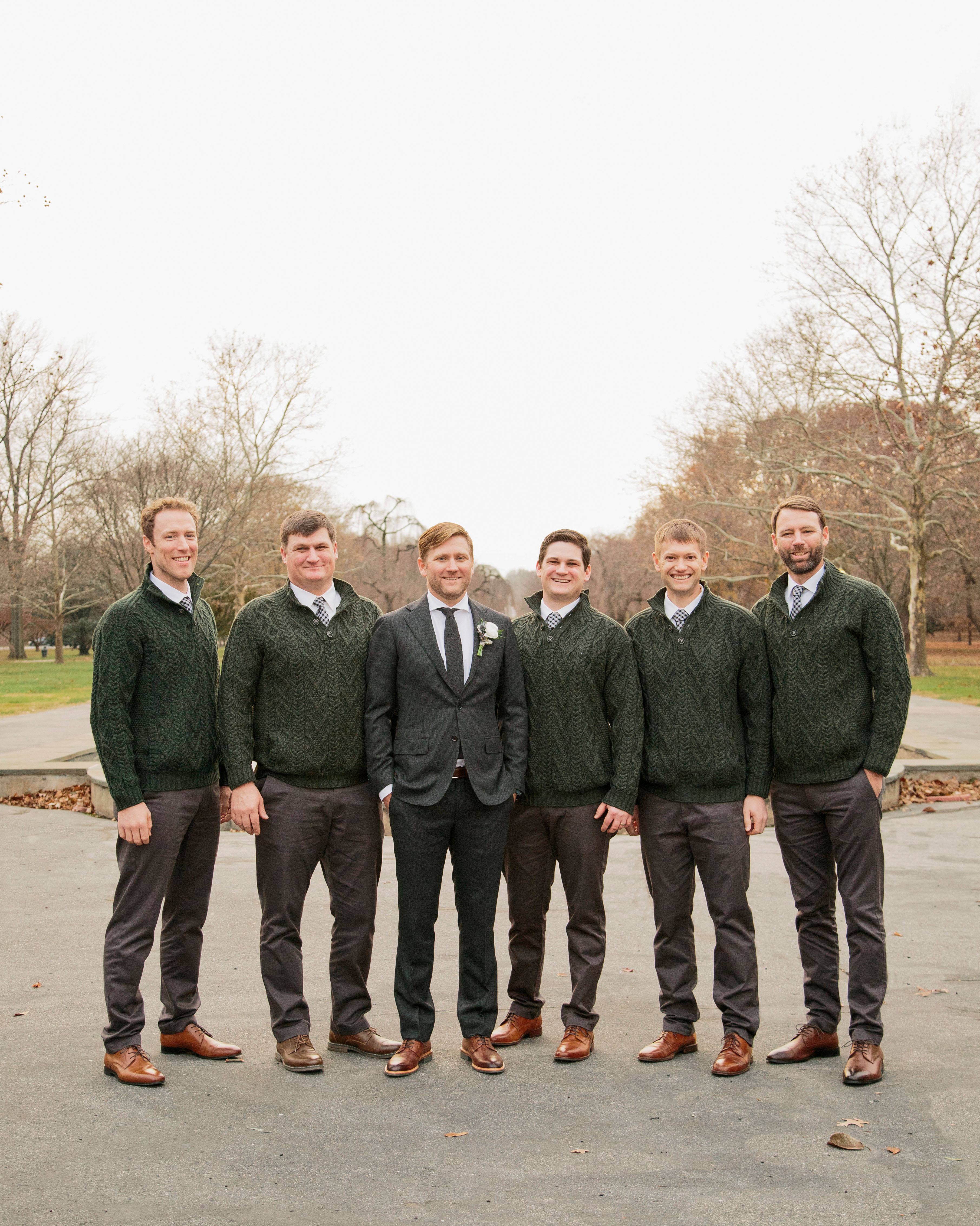 groom groomsman hunter green irish attire
