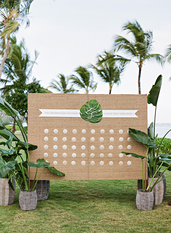 elizabeth sohale wedding dominican republic shell escort cards