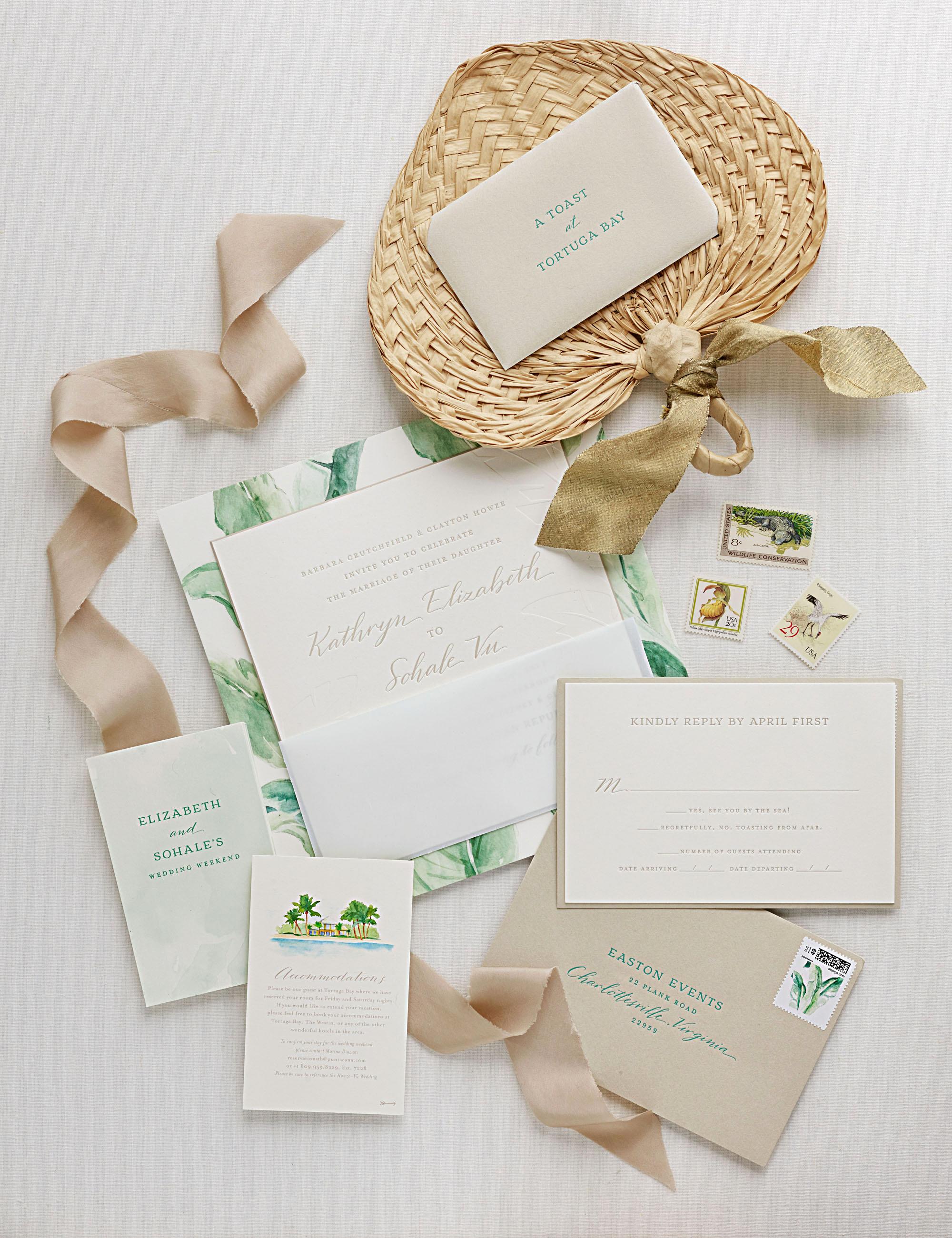 elizabeth sohale wedding dominican republic invitation suite
