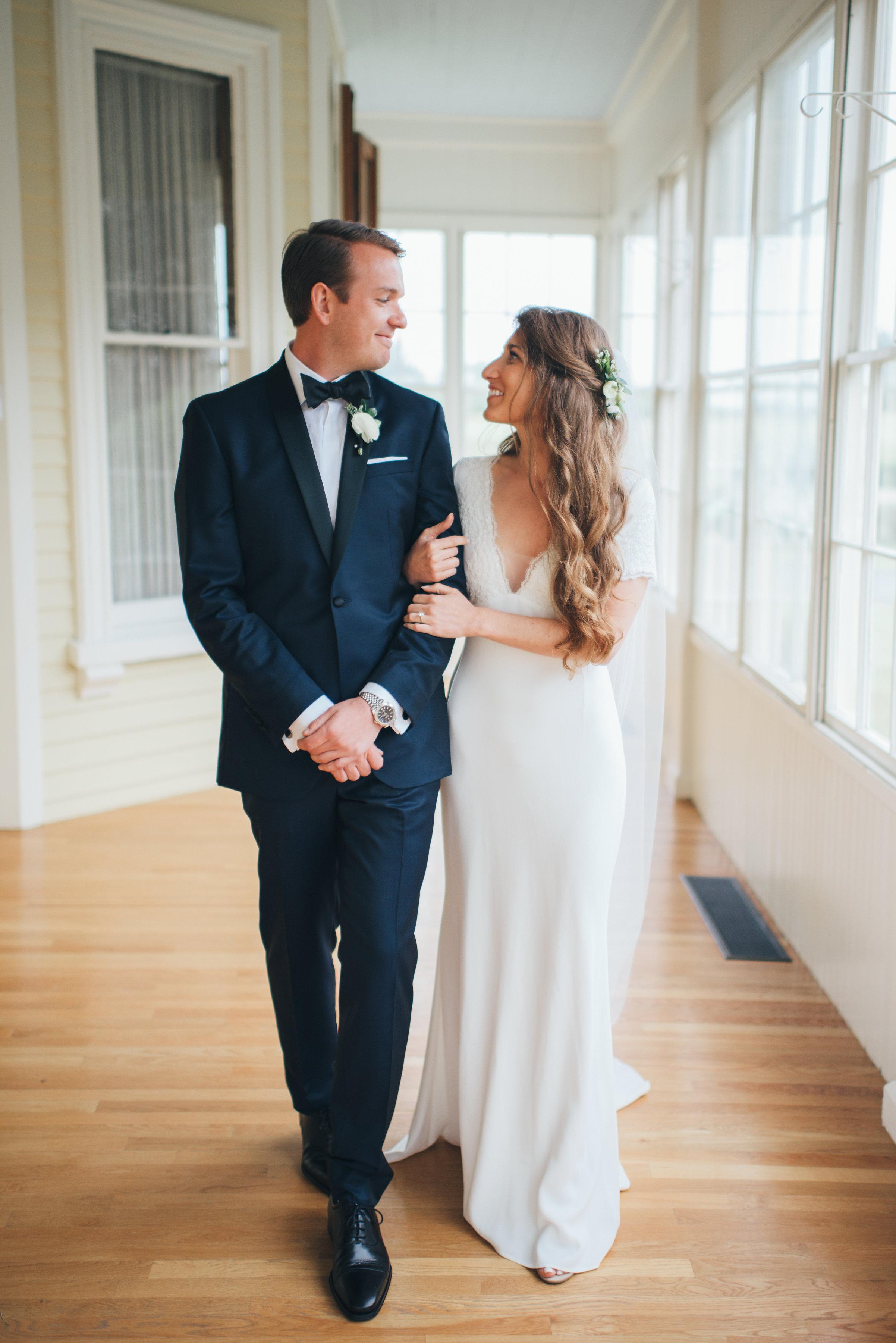 Bride and Groom Portrait, Rhode Island Wedding Ally and Craig