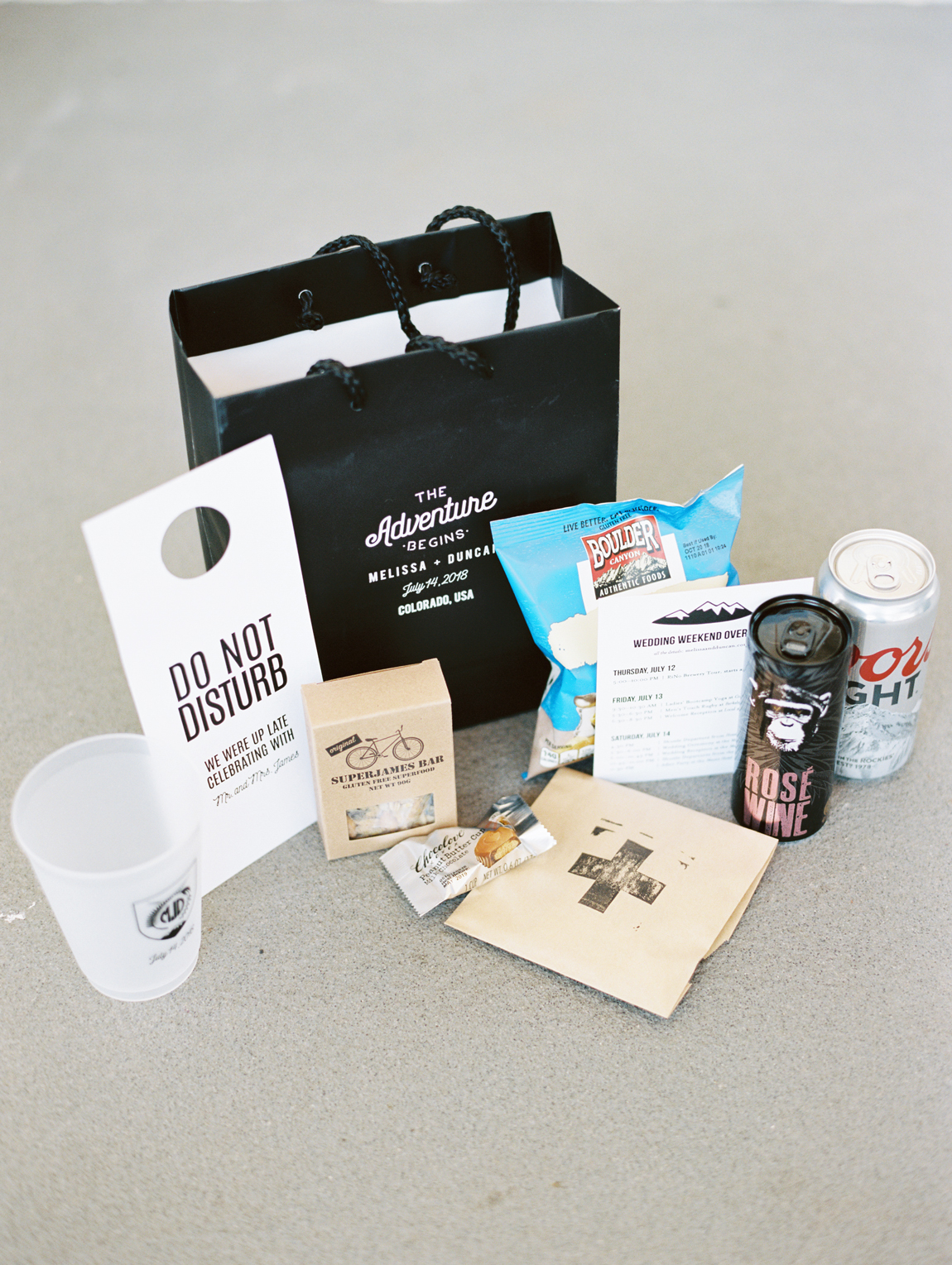 colorado themed guest welcome bag