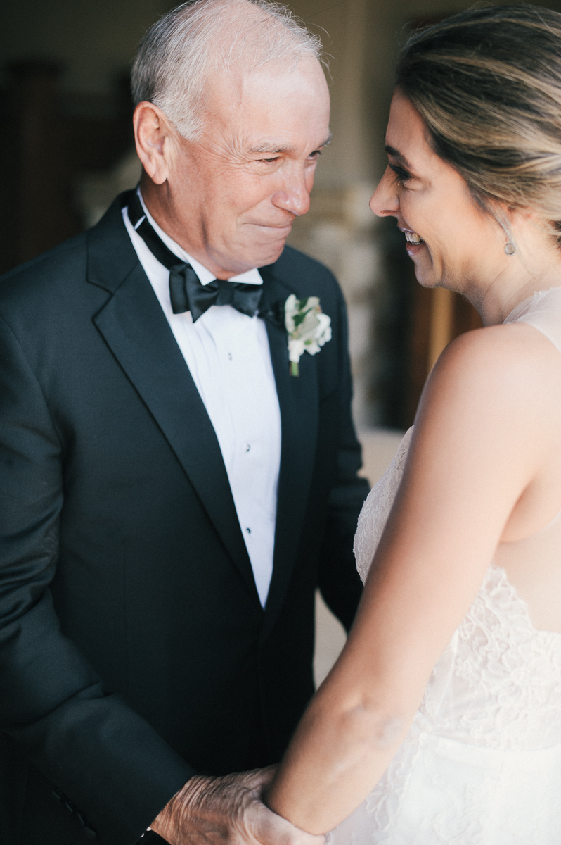 father of the bride first look