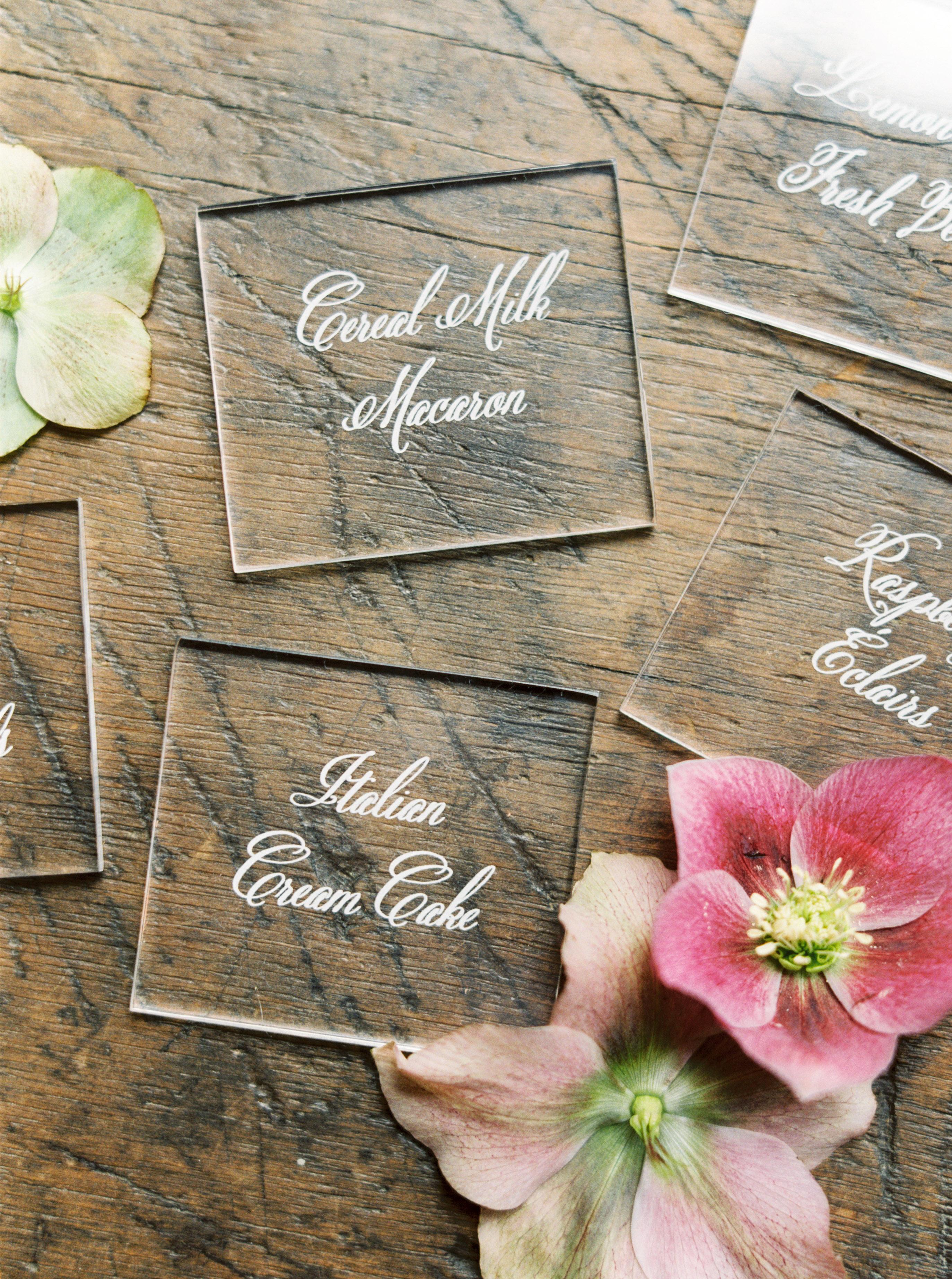 wedding food labels