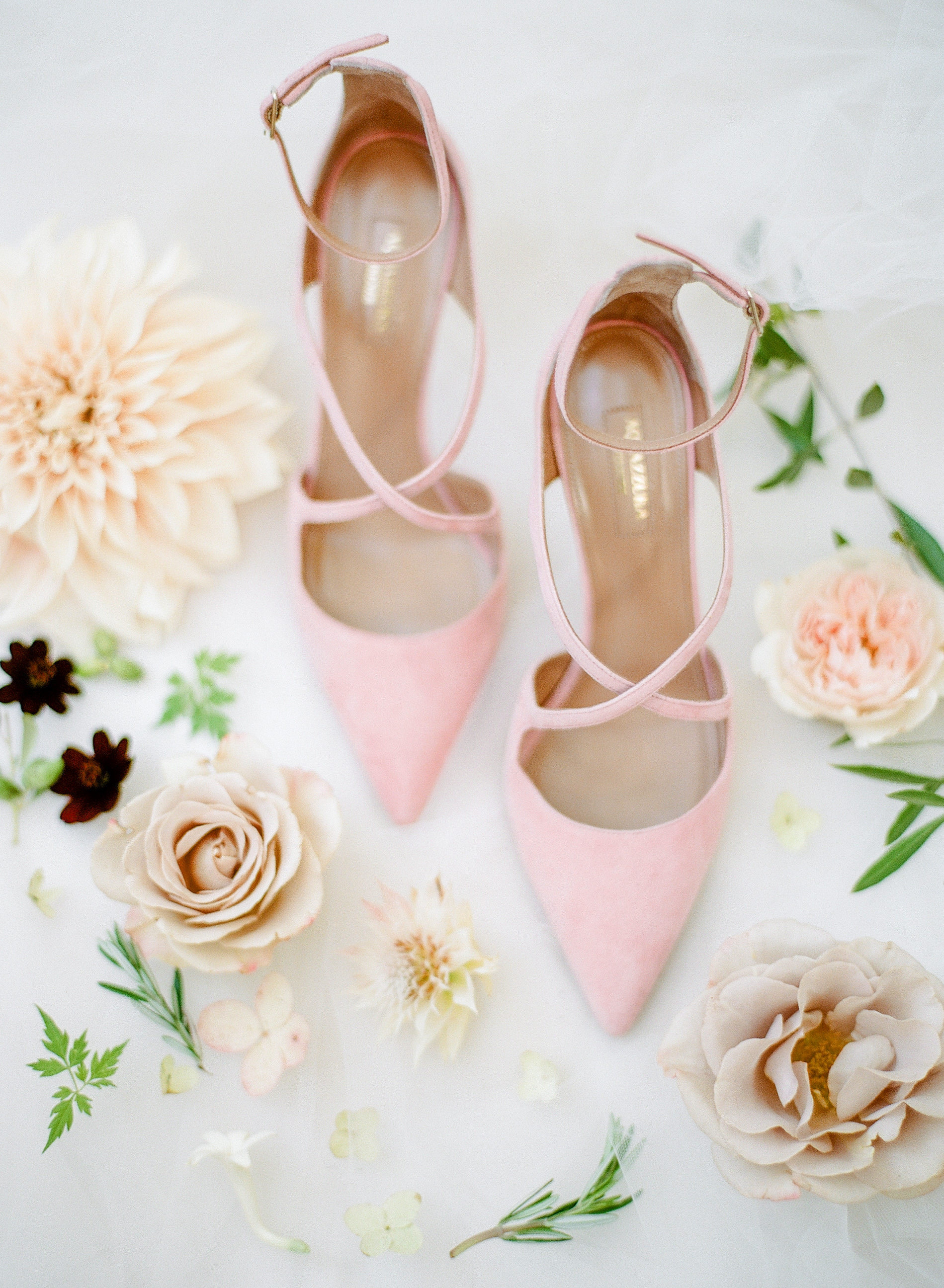 cristina chris wedding bride pink shoes