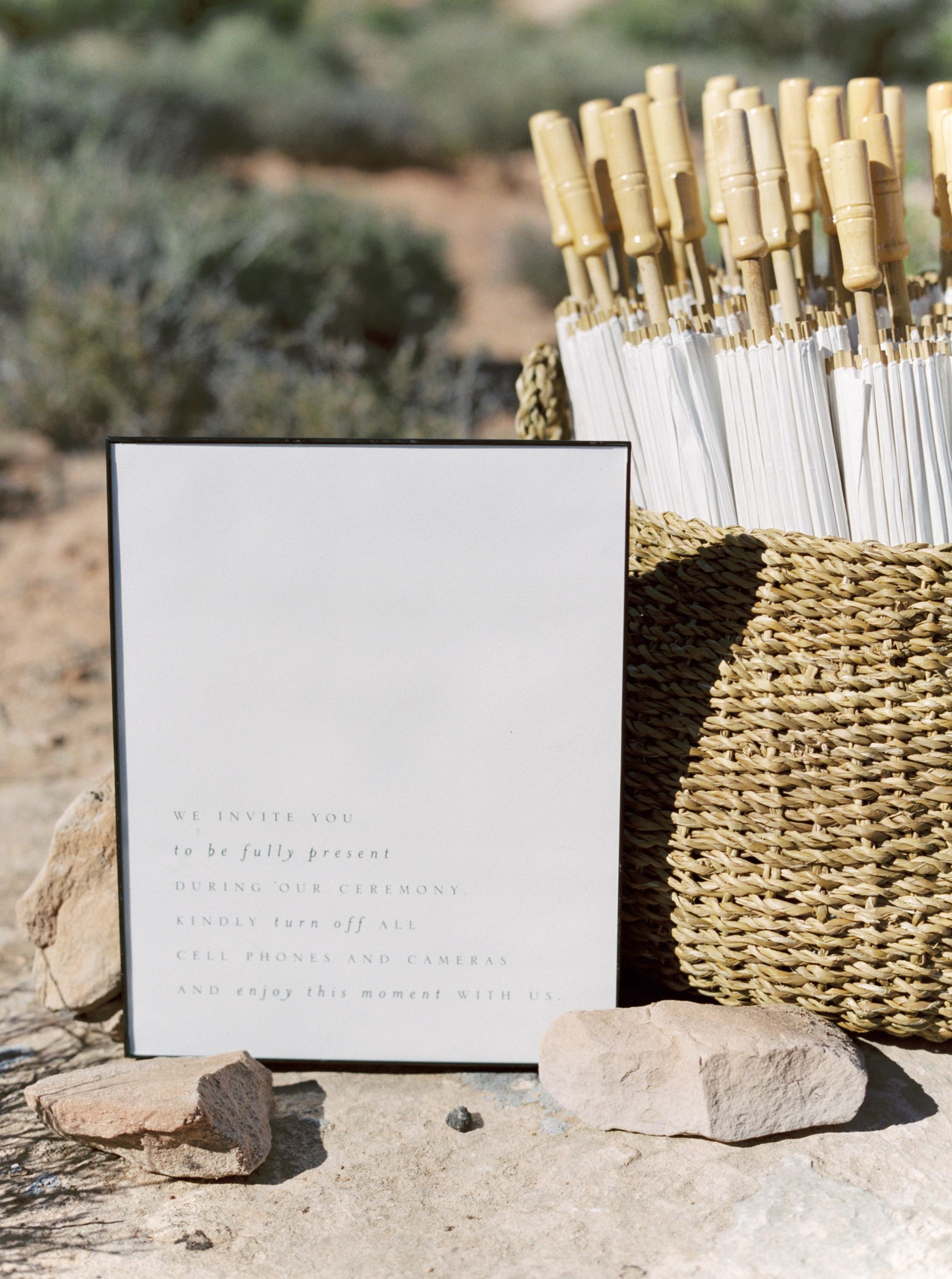 jeanette david wedding unplugged ceremony sign