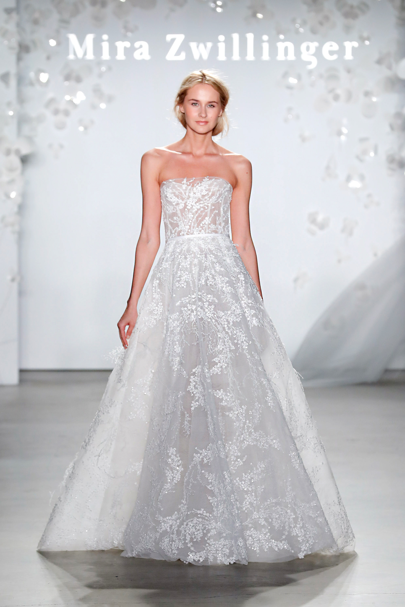 mira zwillinger strapless a-line wedding dress spring 2020