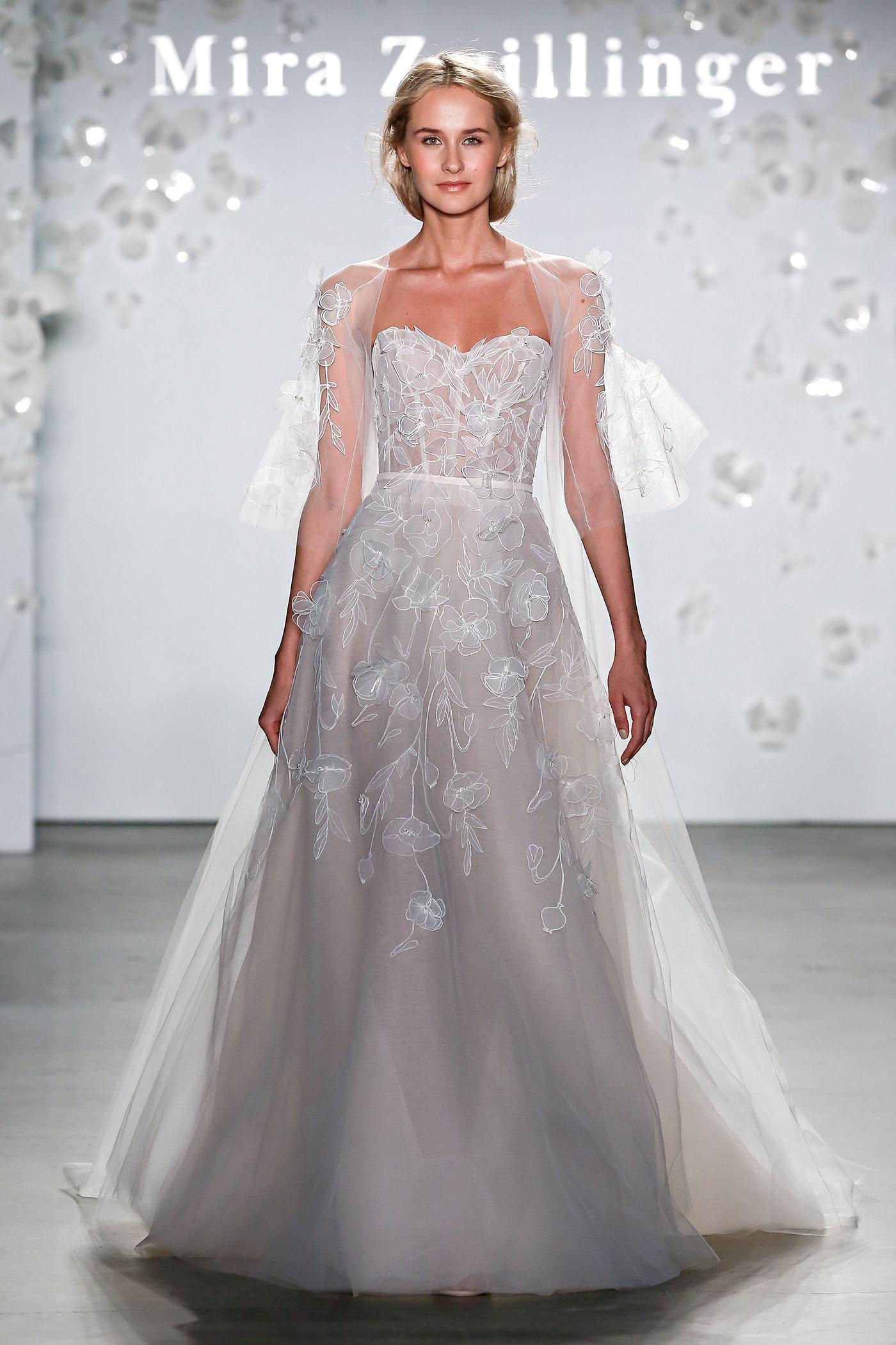 mira zwillinger structured bodice applique wedding dress spring 2020