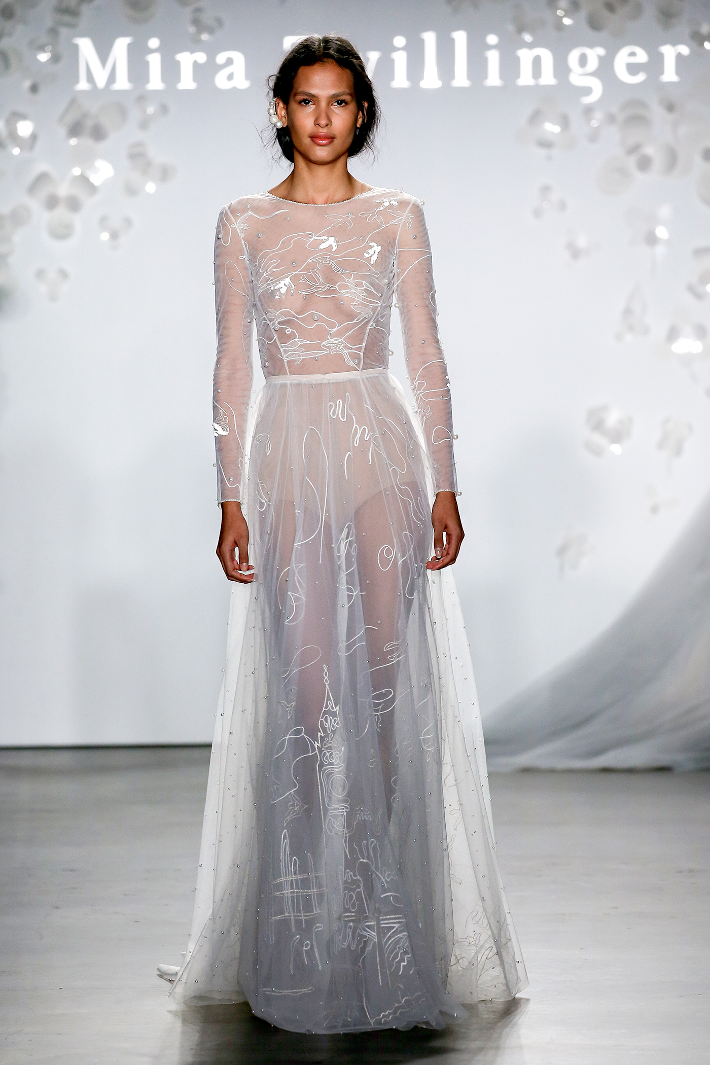 mira zwillinger sheer beadwork wedding dress spring 2020