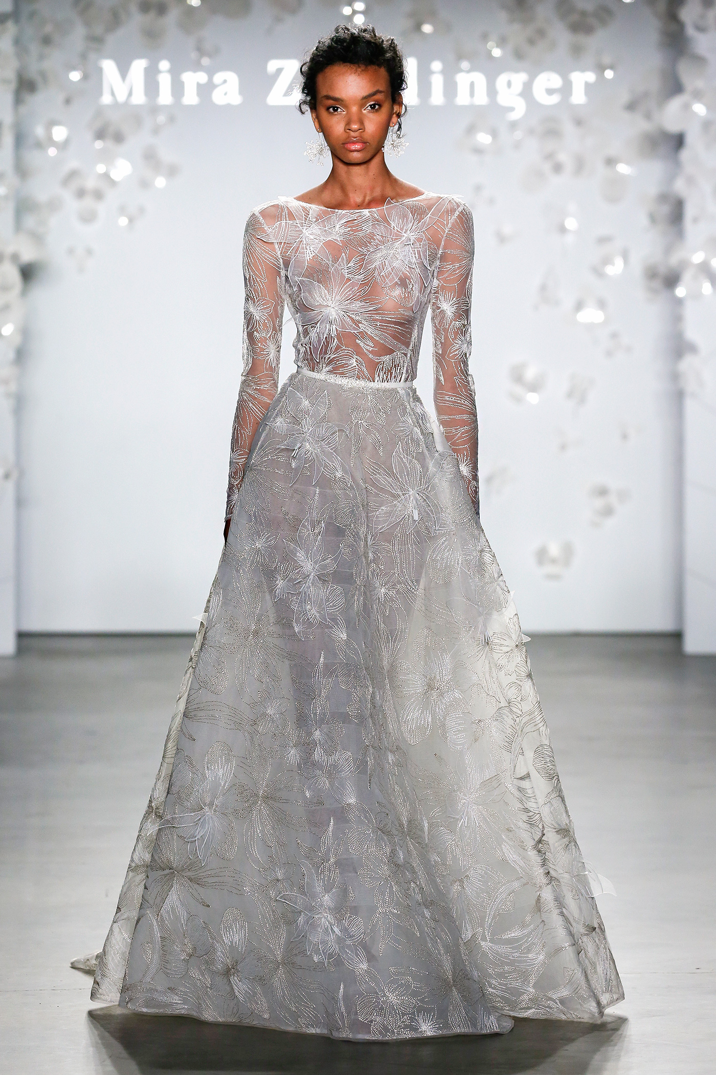 mira zwillinger floral beadwork a-line wedding dress spring 2020