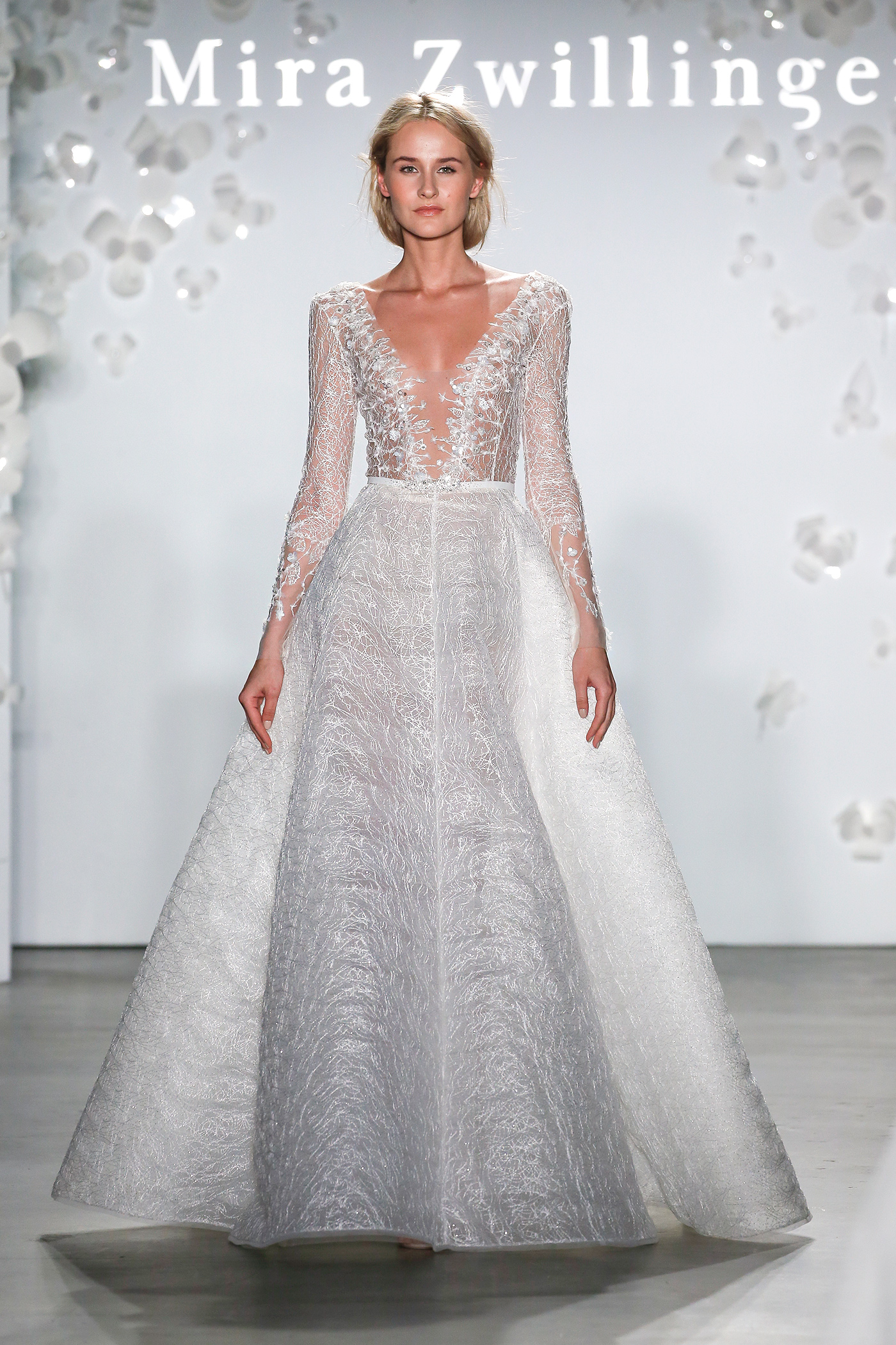 mira zwillinger embroidered ball gown wedding dress spring 2020