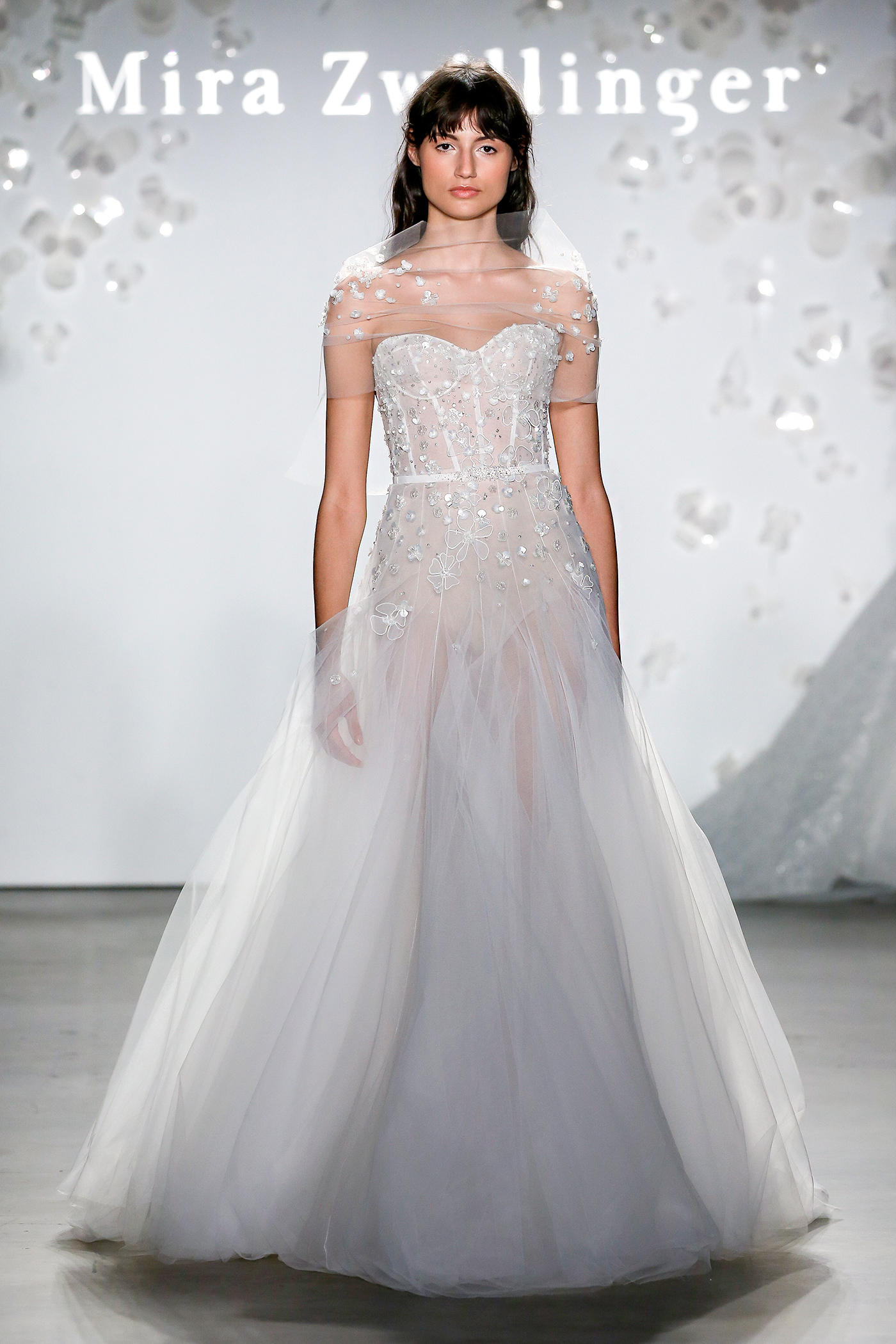 mira zwillinger sweetheart floral applique wedding dress spring 2020