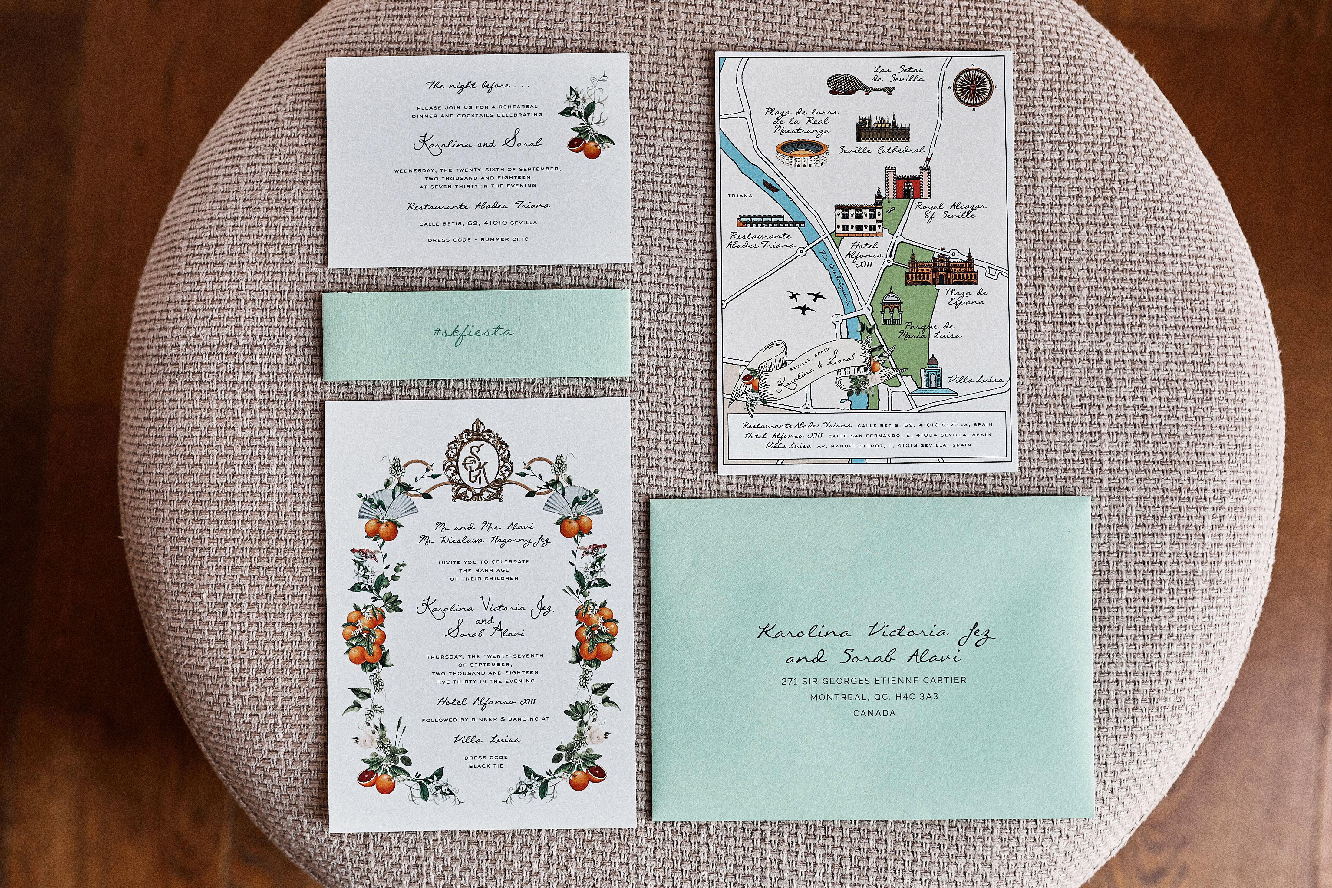 karolina sorab wedding invites stationary suite