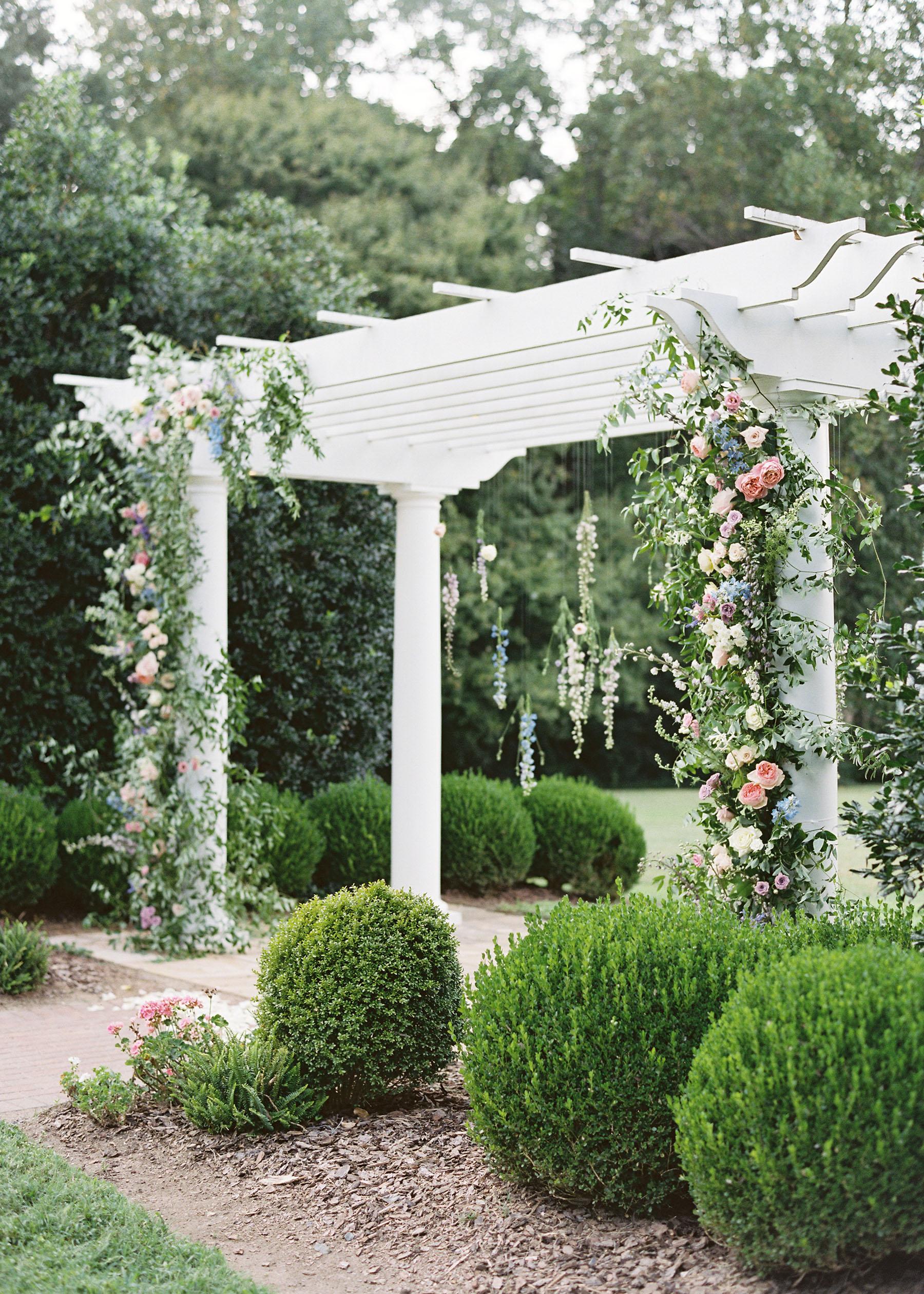 shelby preston wedding ceremony arch