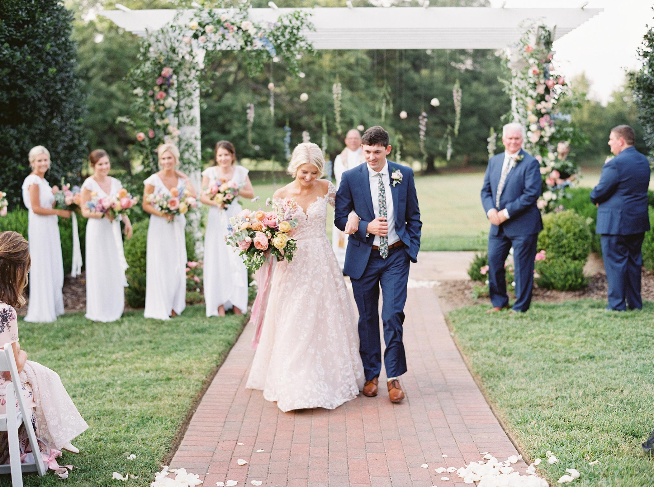 shelby preston wedding ceremony couple