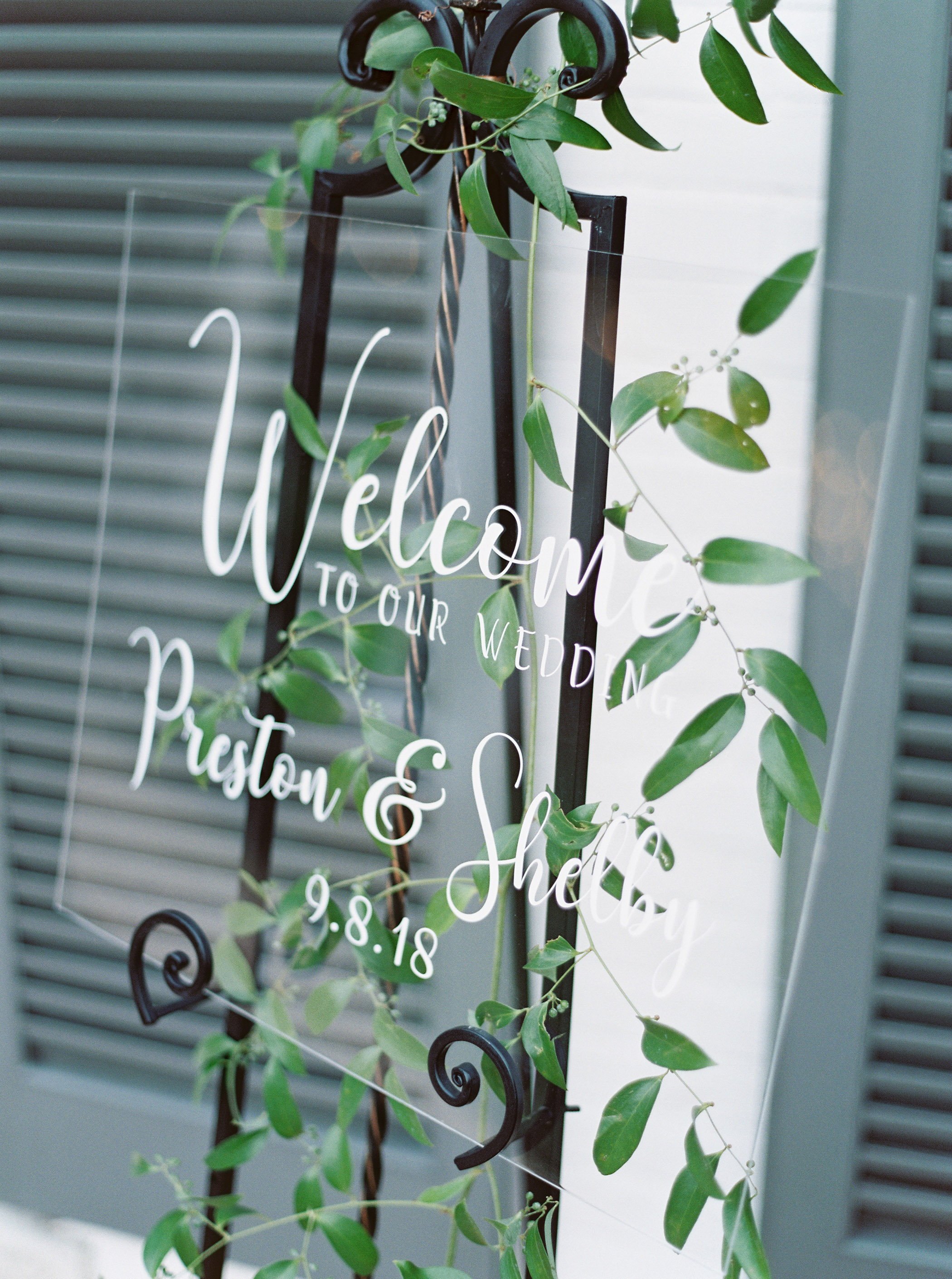 shelby preston wedding welcome sign