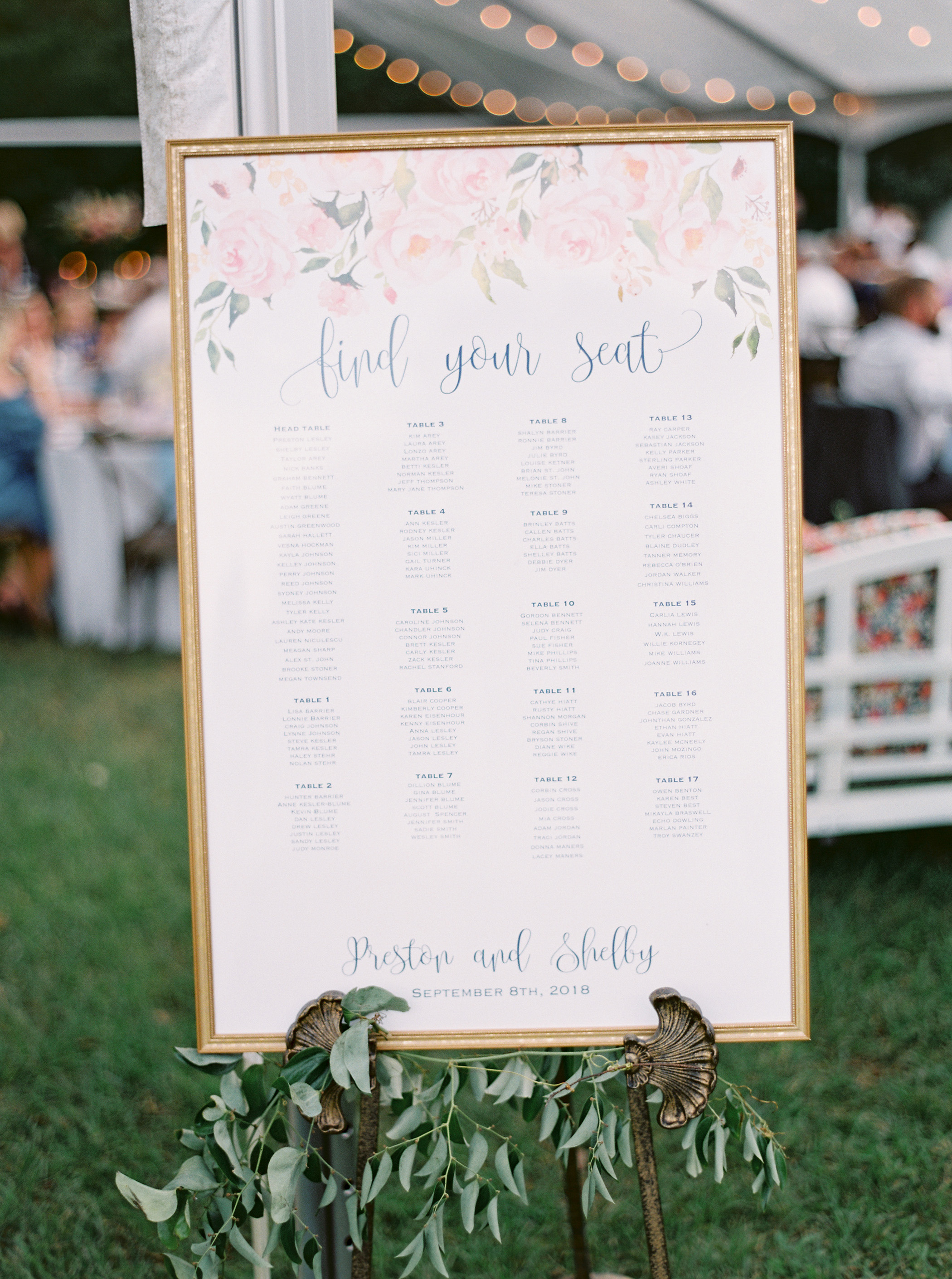 shelby preston wedding seating chart