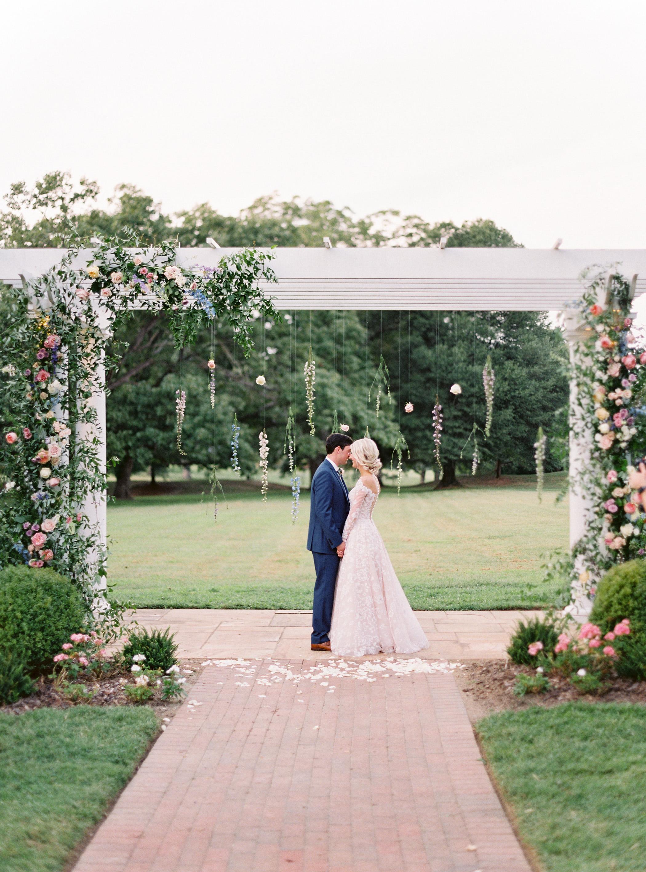 shelby preston wedding couple at altar