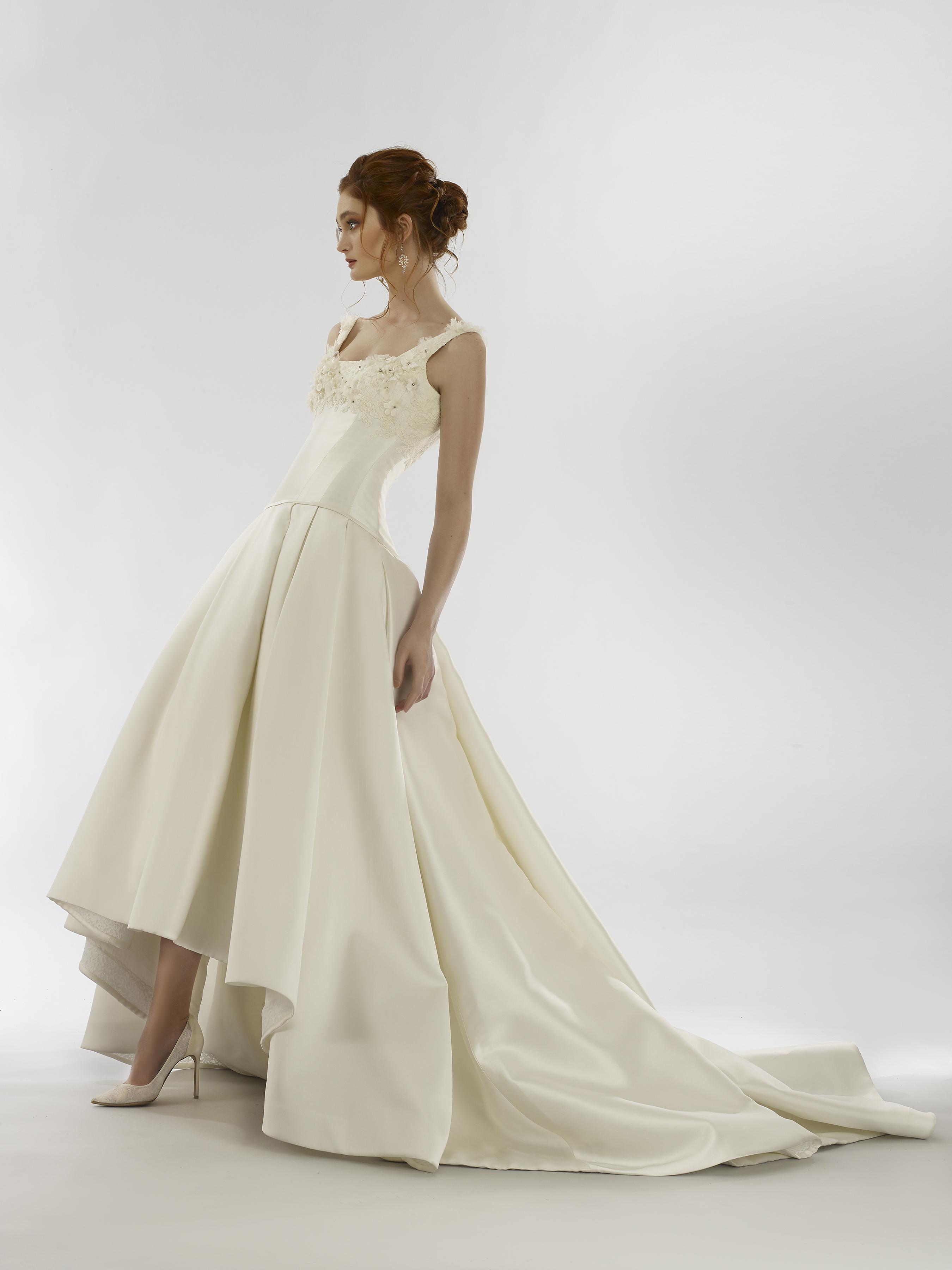 steven birnbaum spring 2020 wedding dress a-line square neck
