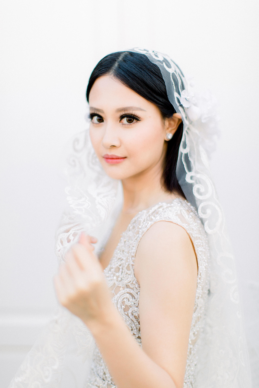 angie prayogo greece wedding bride