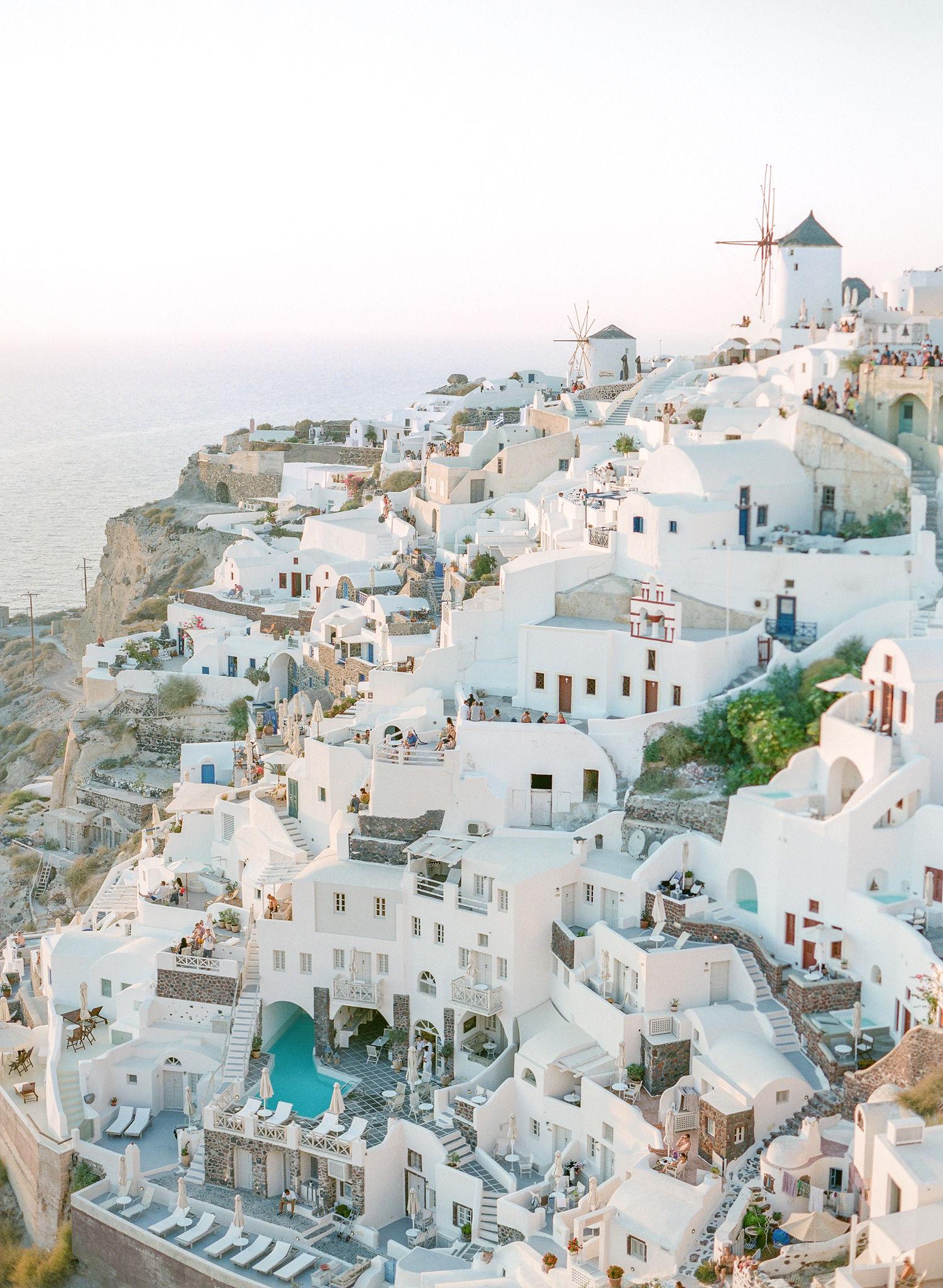 coast-side Oia Greek village