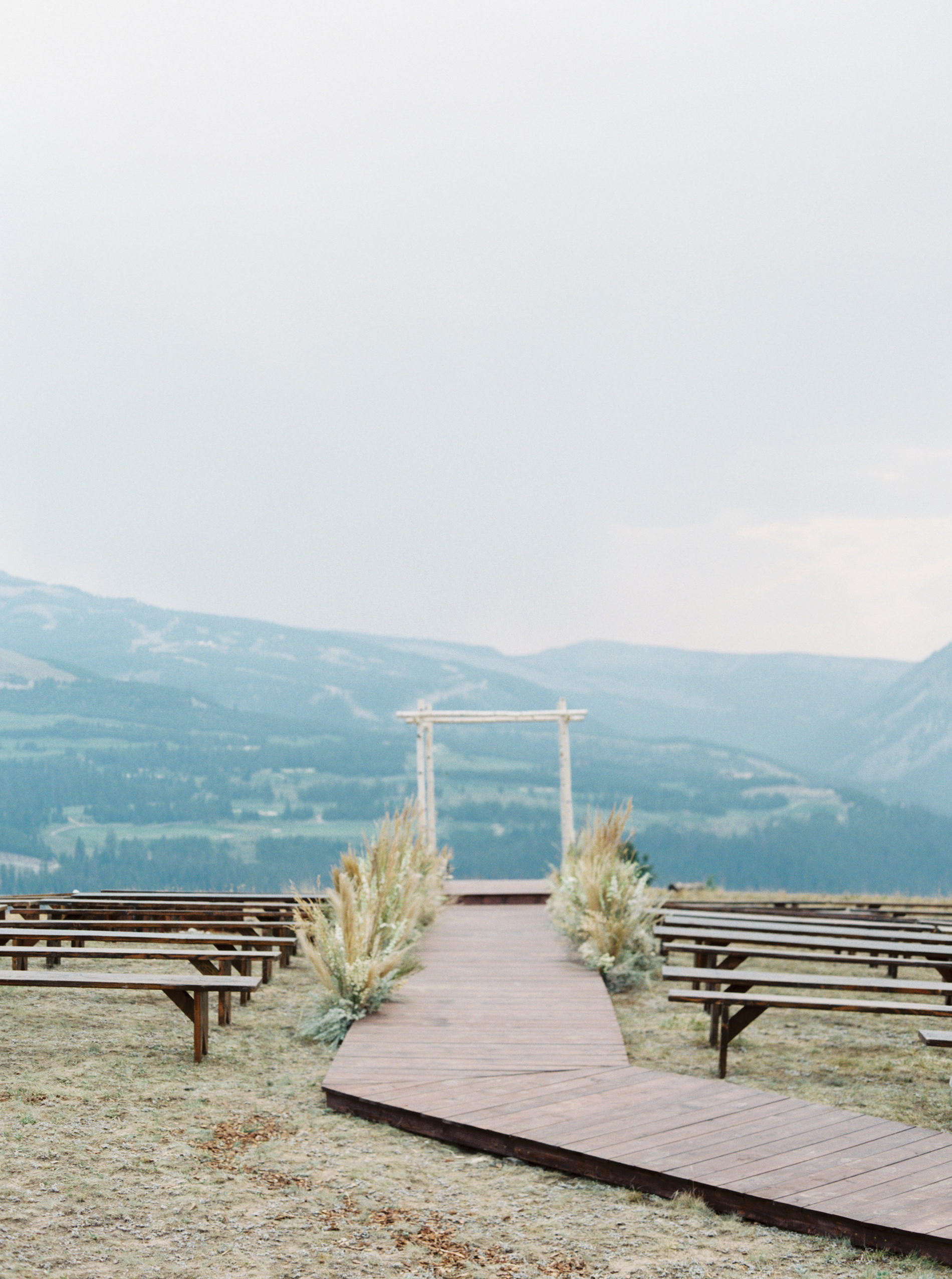 Yellowstone Club's helicopter pad wedding ceremony