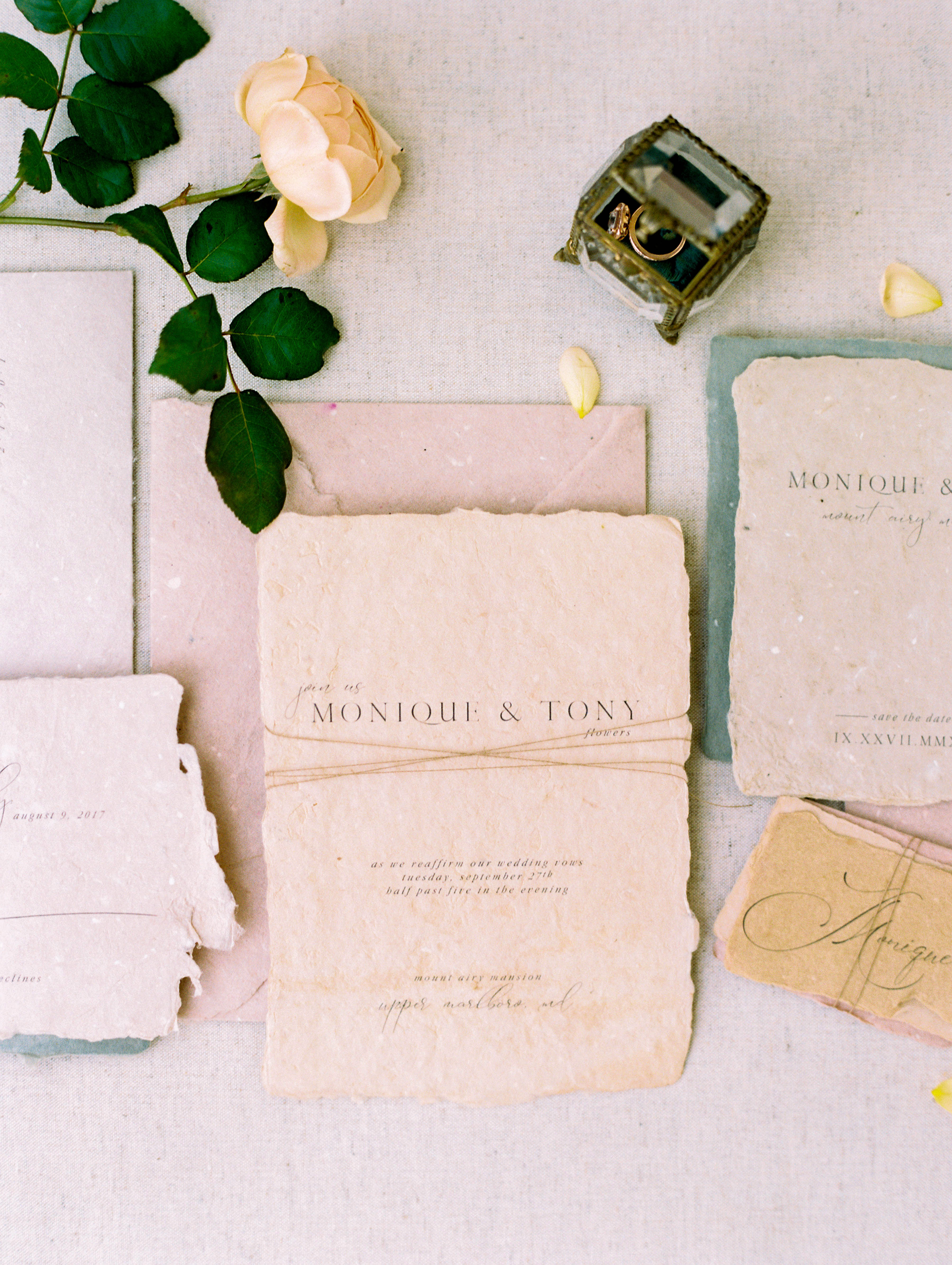wedding invitation negative petite typography