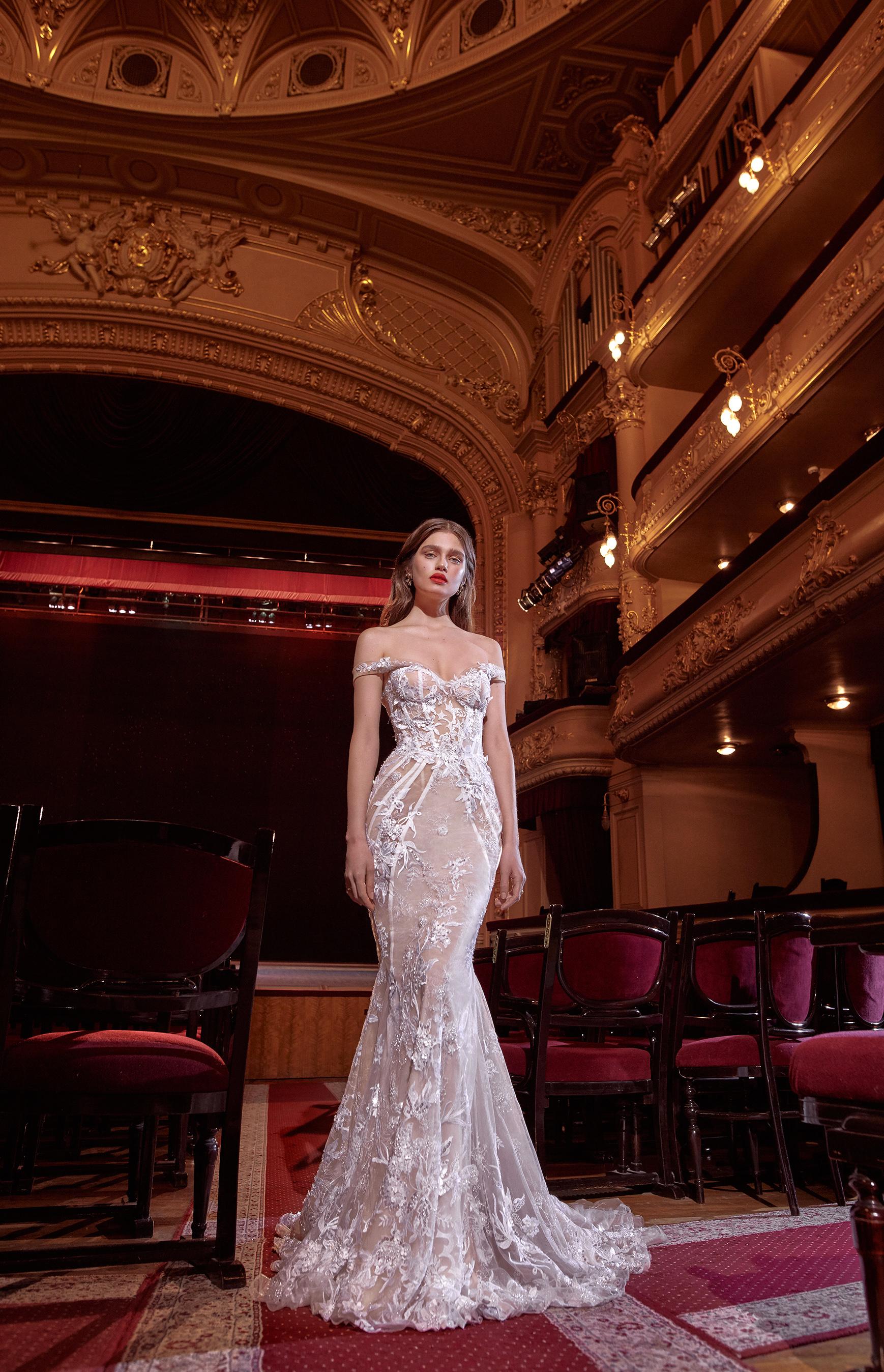 galia lahav off the shoulder embellished trumpet wedding dress spring 2020