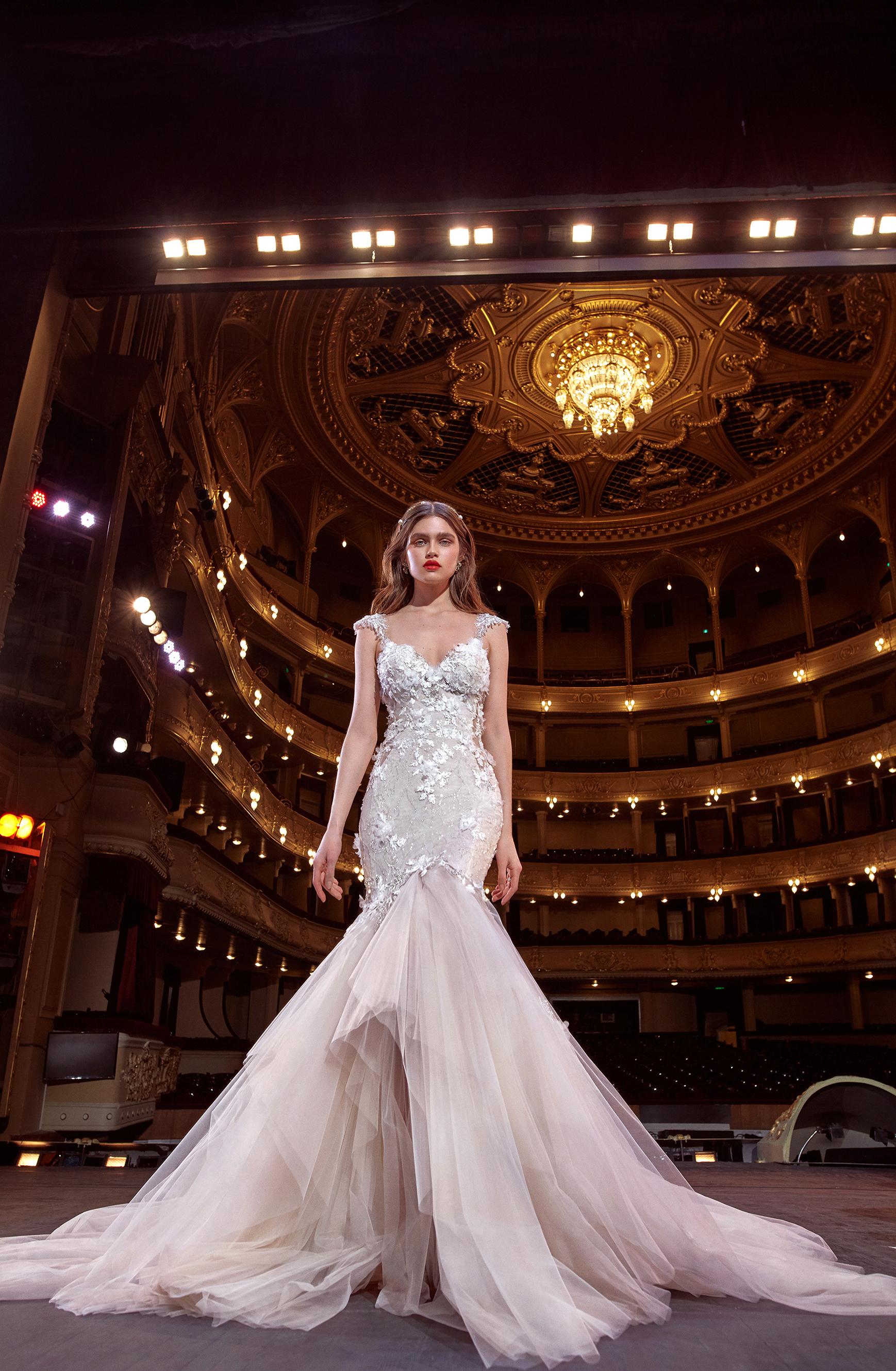 galia lahav cap sleeves embellished tulle skirt wedding dress spring 2020